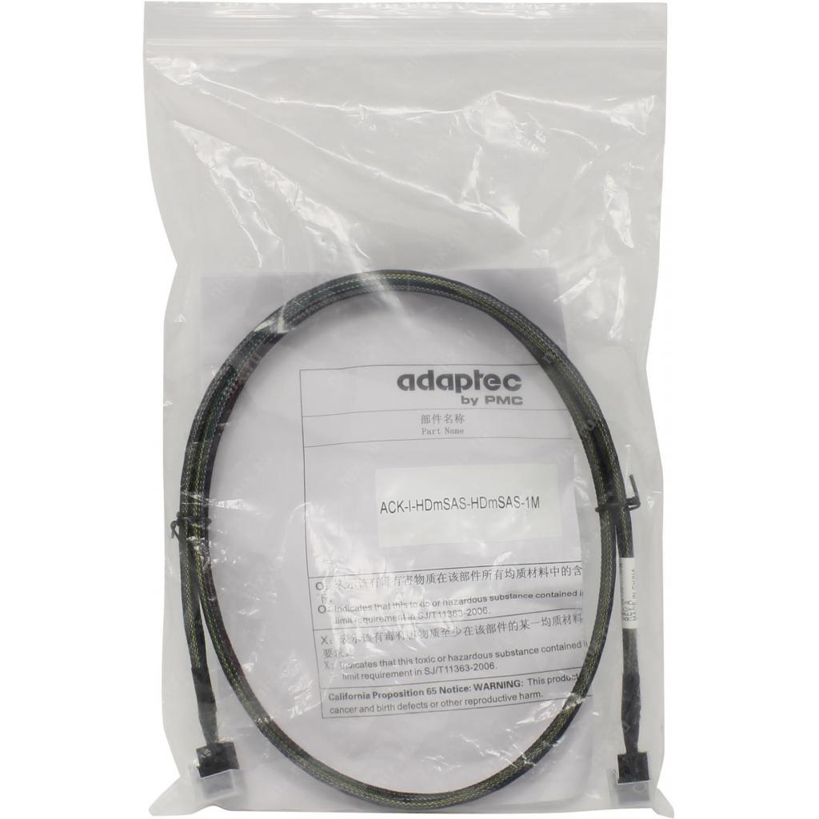Кабель для передачи данных Adaptec ACK-I-HDMSAS-HDMSAS-0.8M 2282100-R изображение 2