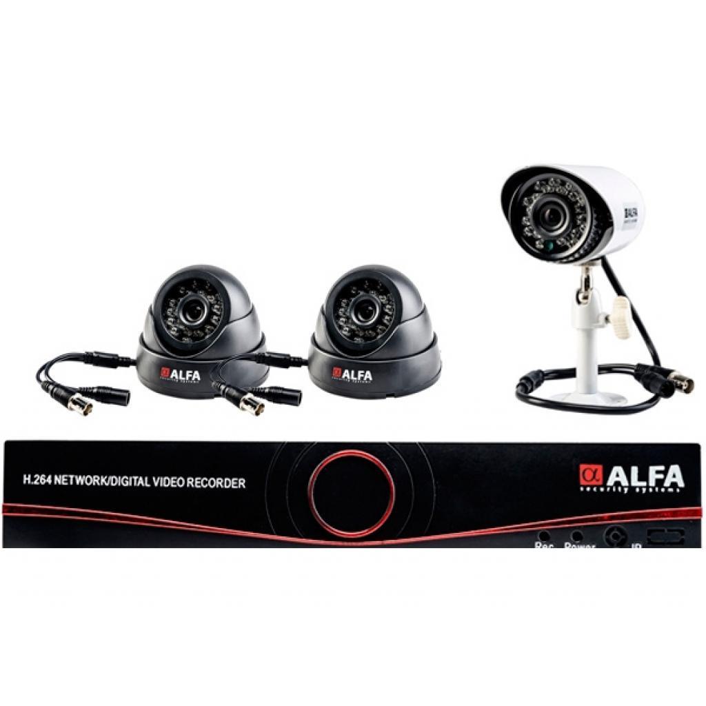 Комплект видеонаблюдения ALFA Mix 1x2