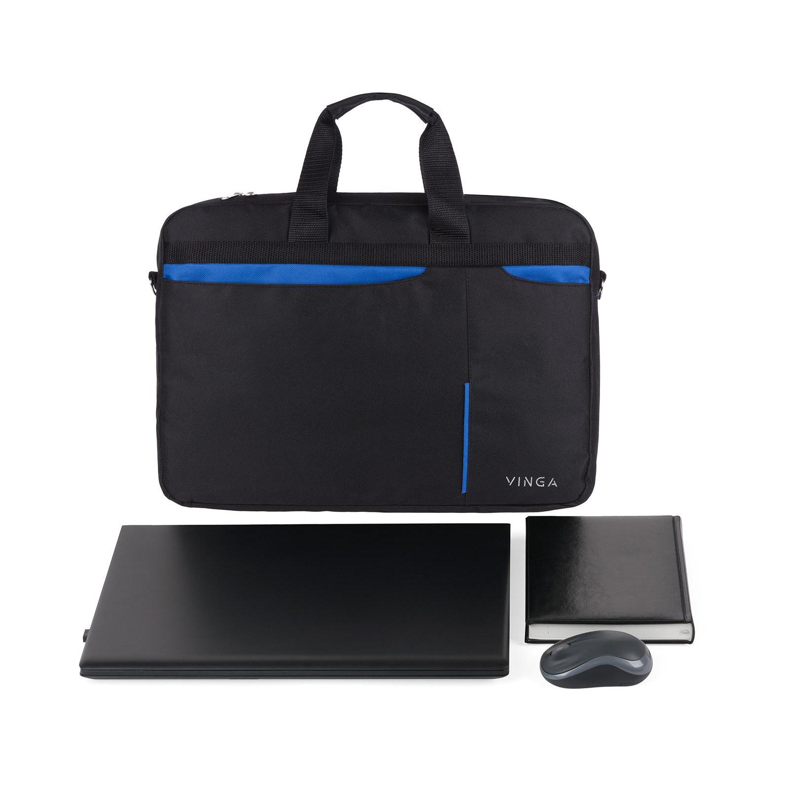 """Сумка для ноутбука Vinga 15.6"""" NB175BB blue-black (NB175BB) изображение 2"""