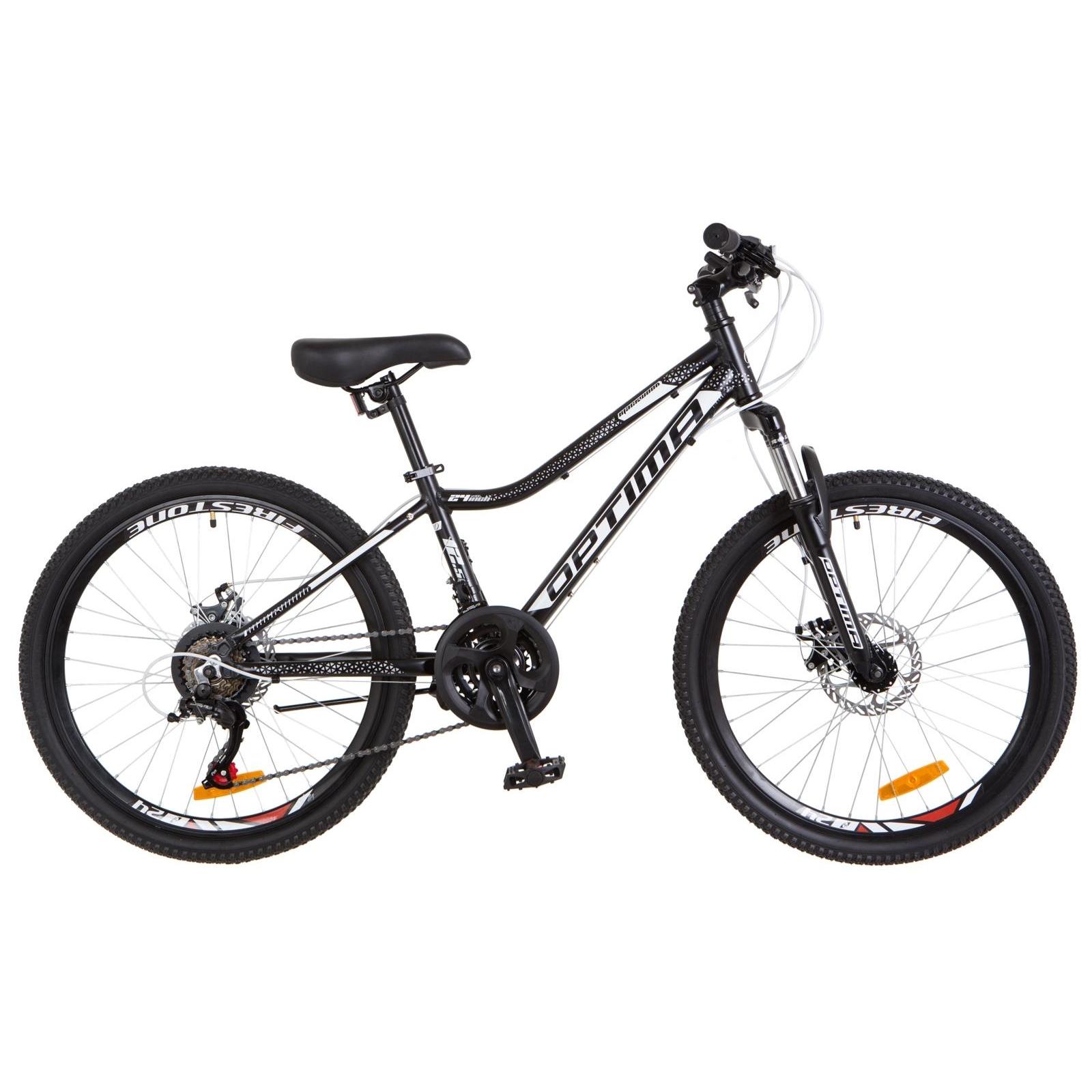 "Велосипед Optimabikes 24"" BLACKWOOD 2018 AM 14G DD рама-12,5"" Al черно-белый (OPS-OP-24-031)"