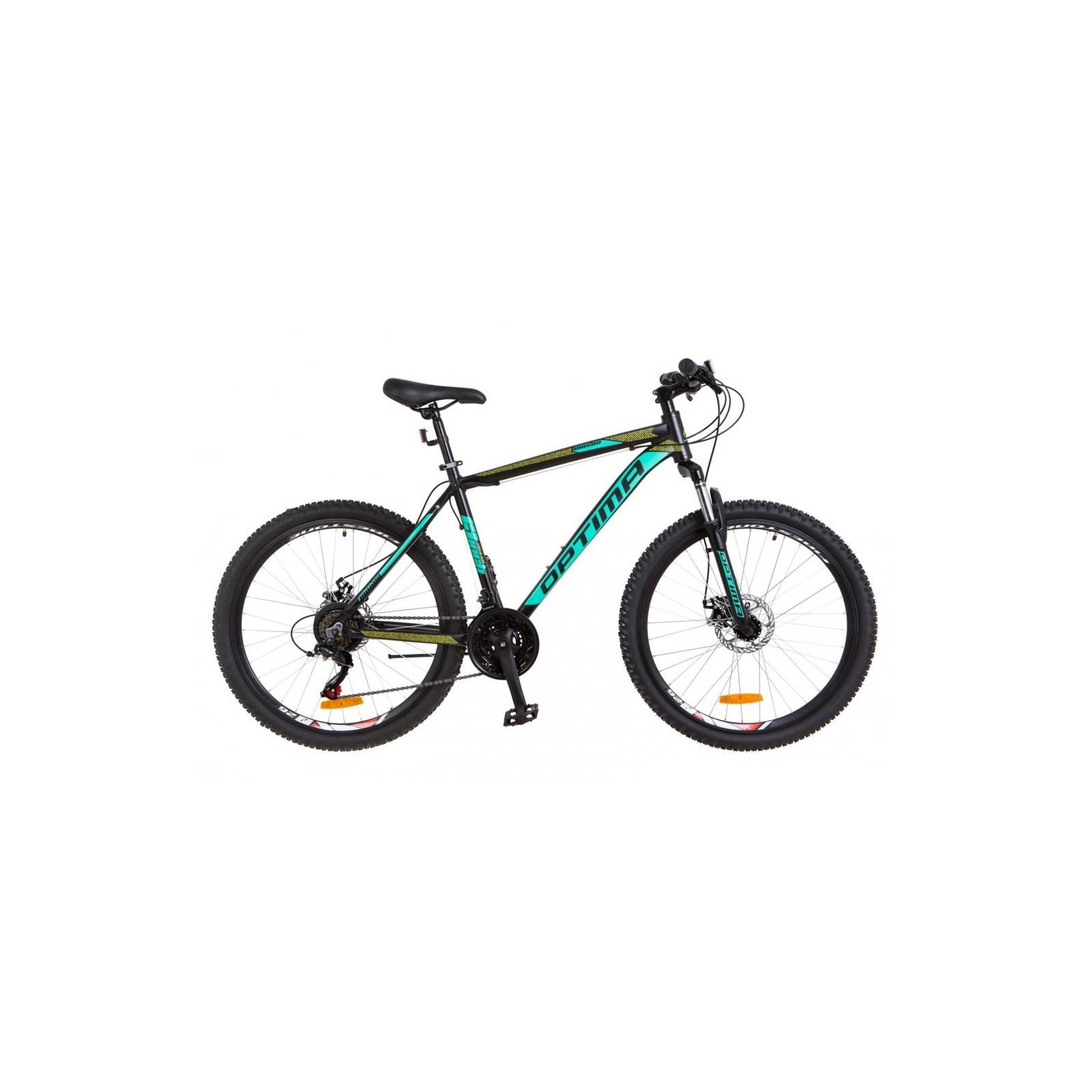 "Велосипед Optimabikes 26"" MOTION 2018 AM 14G DD рама-13"" Al черно-бирюзовый (OPS-OP-26-112)"