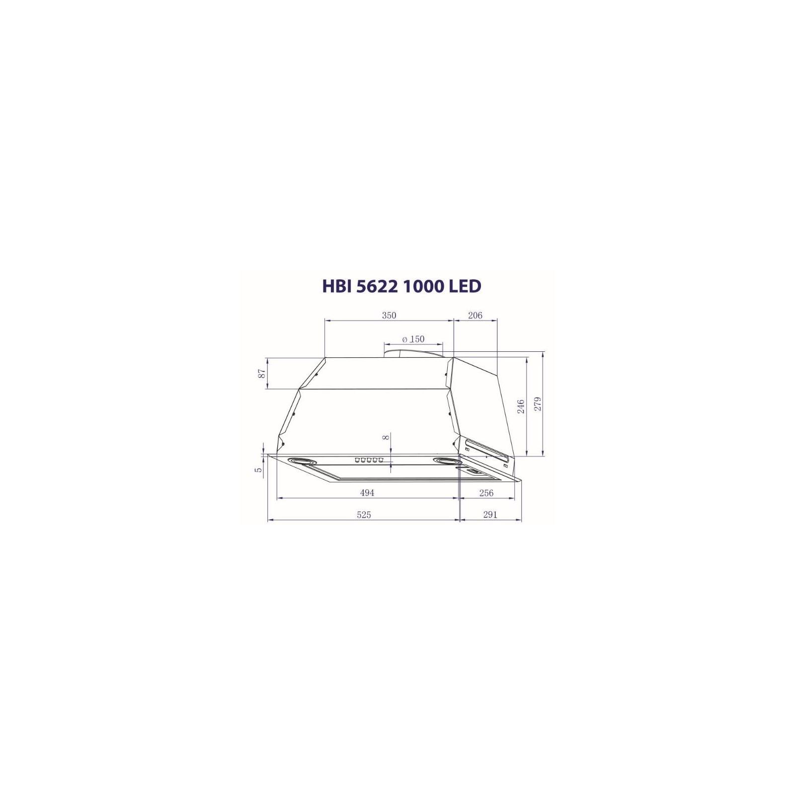 Вытяжка кухонная MINOLA HBI 5622 I 1000 LED изображение 8