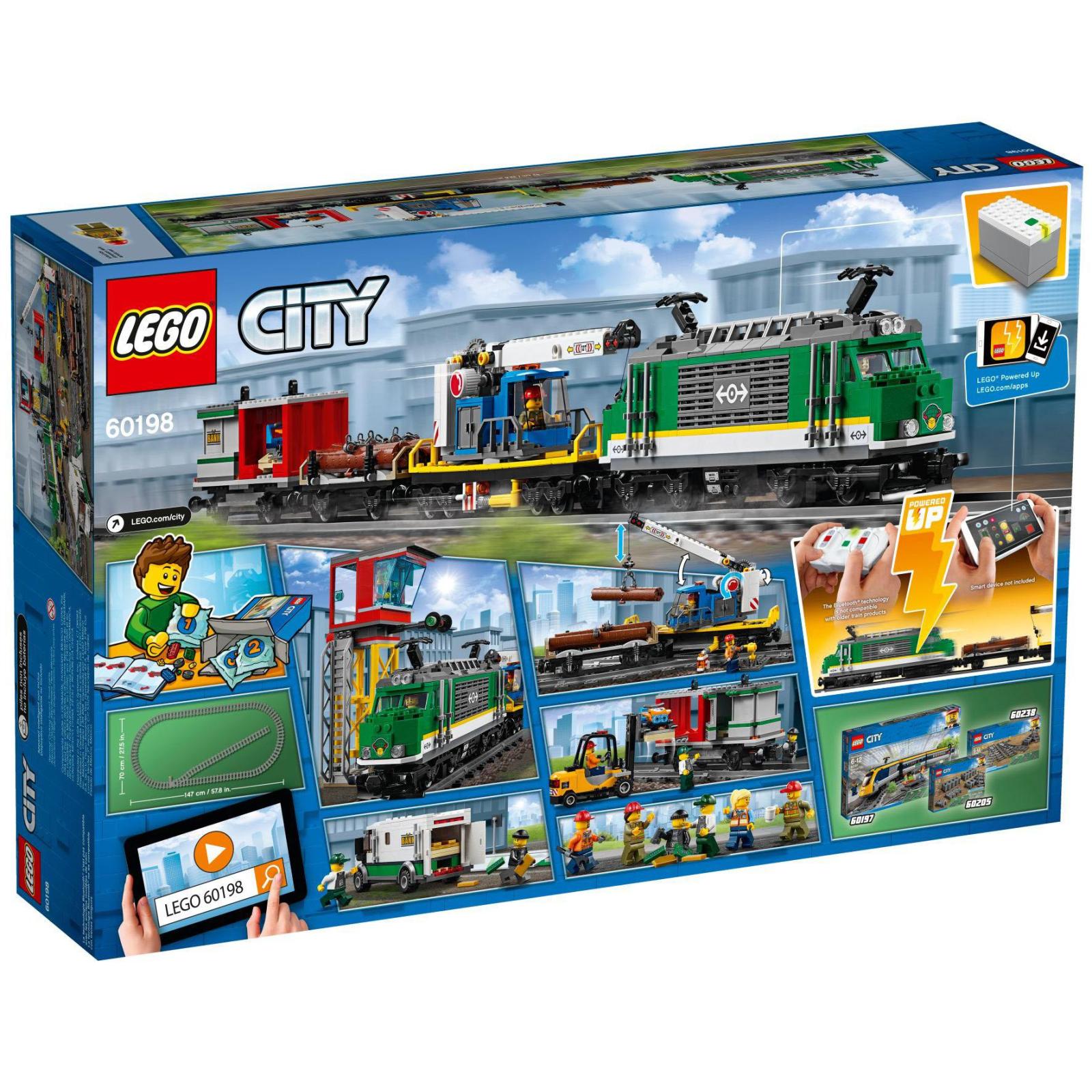 Конструктор LEGO CITY Грузовой поезд (60198) изображение 12