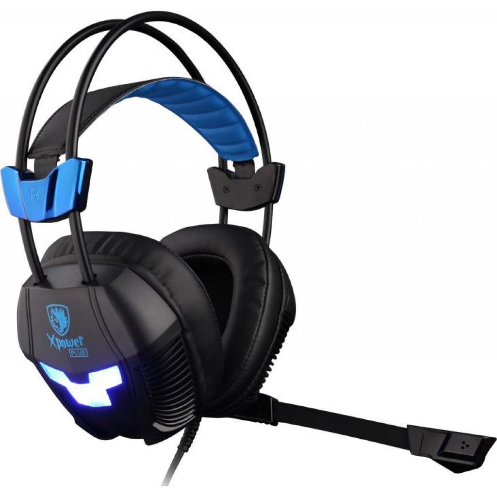 Наушники SADES Xpower Plus Black/Blue (SA706S-B-BL) изображение 3