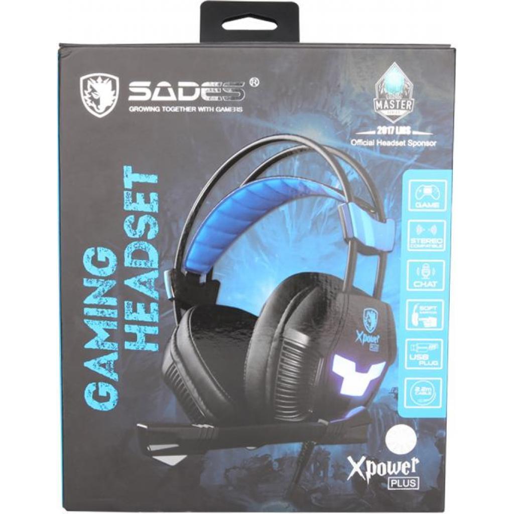 Наушники SADES Xpower Plus Black/Blue (SA706S-B-BL) изображение 9