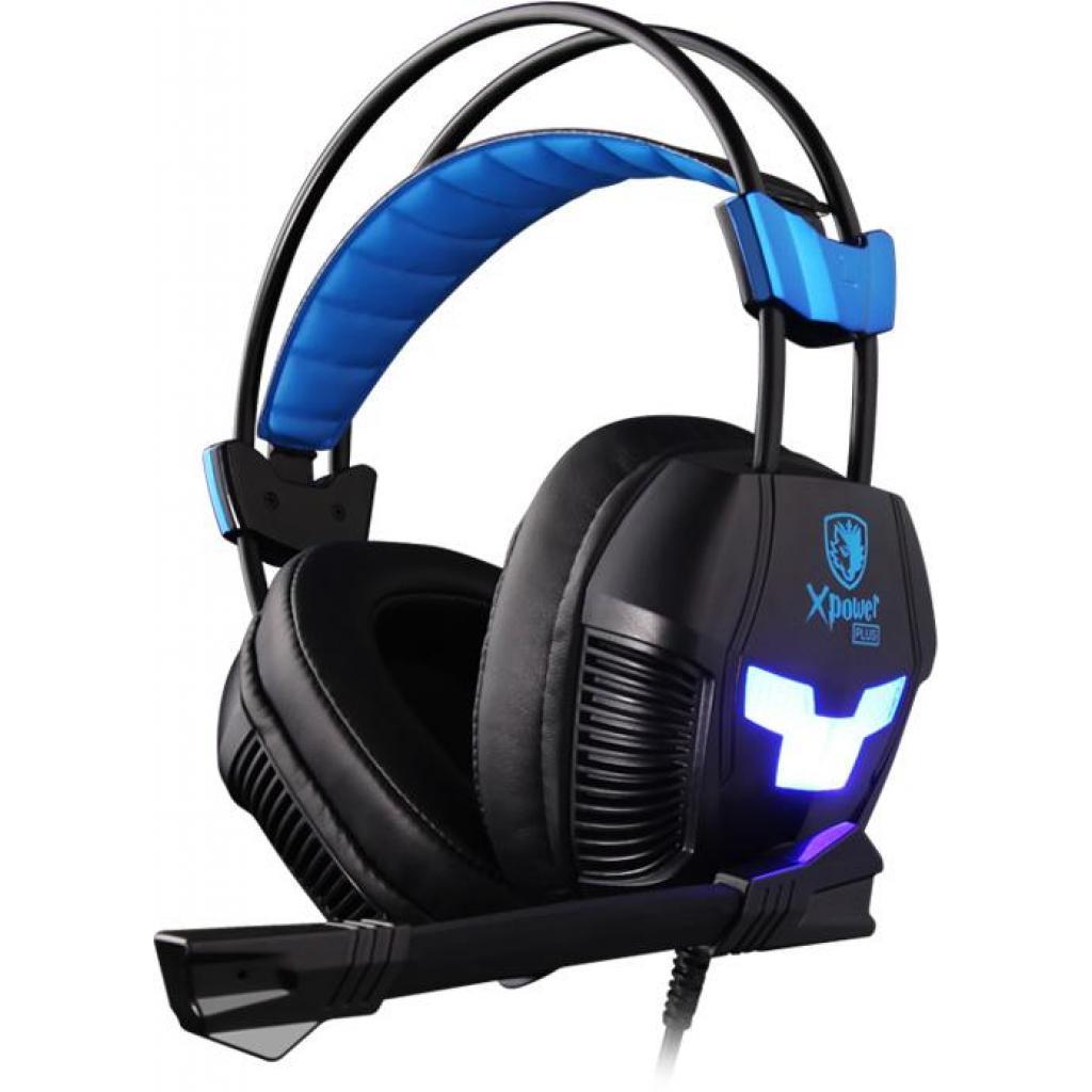 Наушники SADES Xpower Plus Black/Blue (SA706S-B-BL)