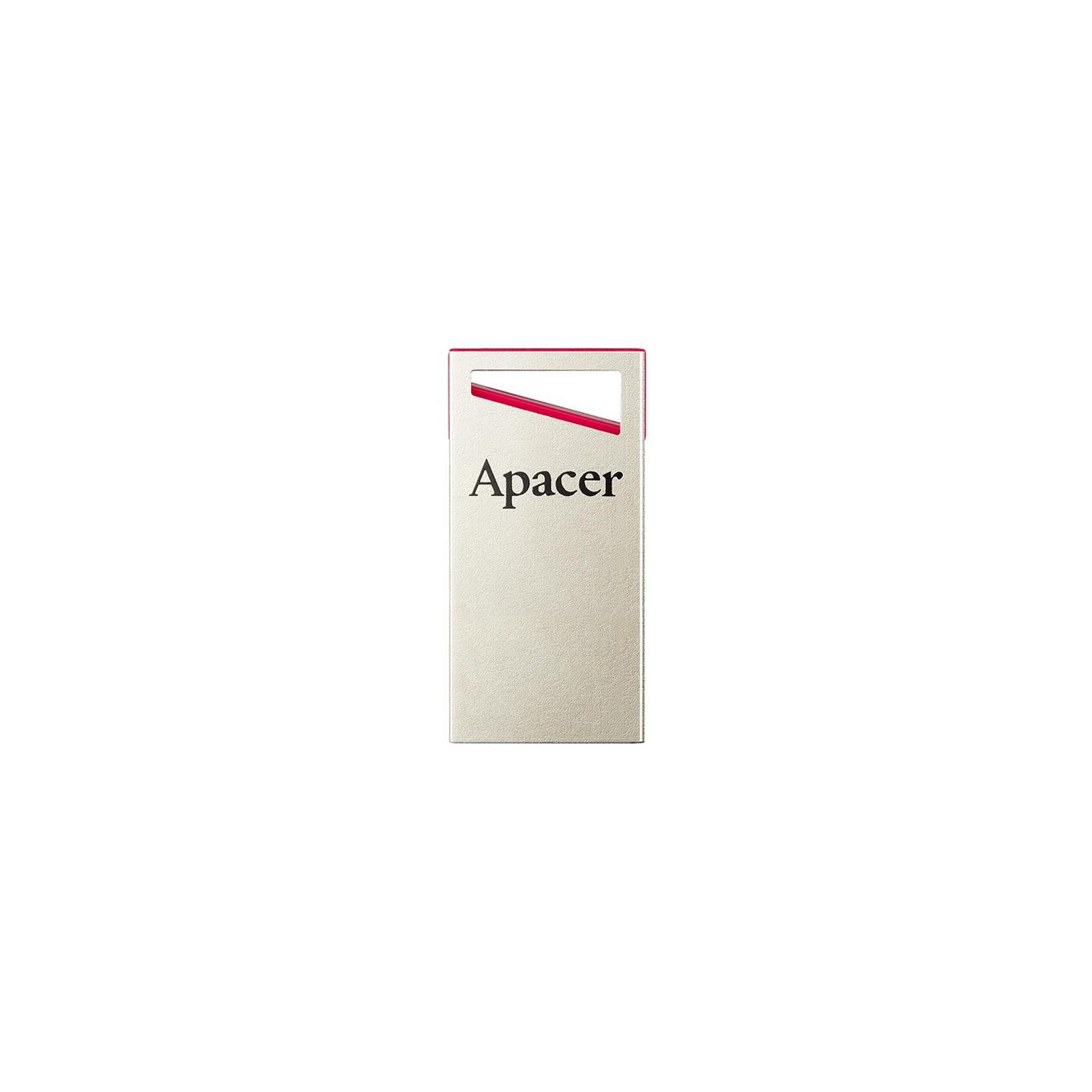 USB флеш накопитель Apacer 64GB AH112 Red USB 2.0 (AP64GAH112R-1) изображение 2