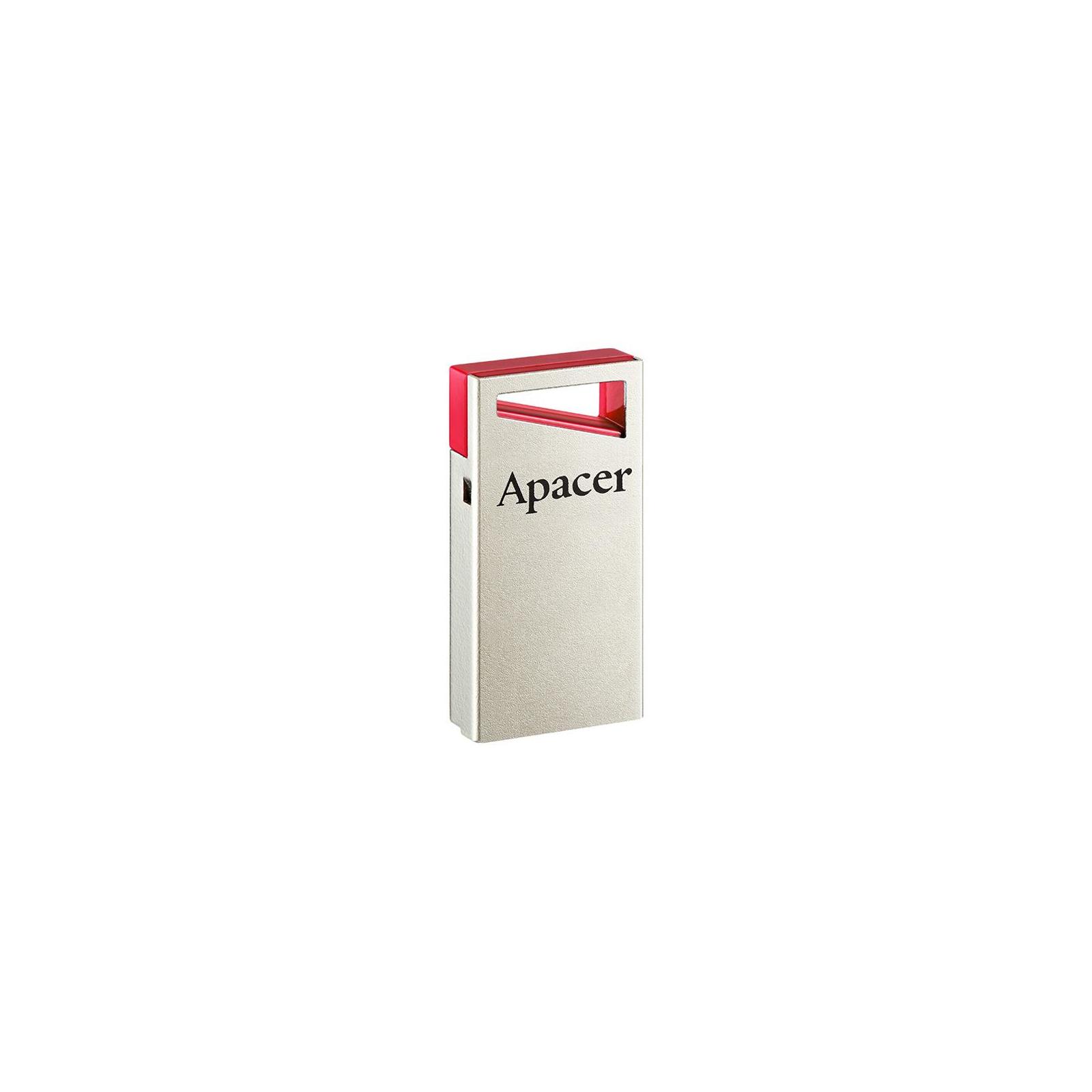 USB флеш накопитель Apacer 64GB AH112 Red USB 2.0 (AP64GAH112R-1) изображение 3