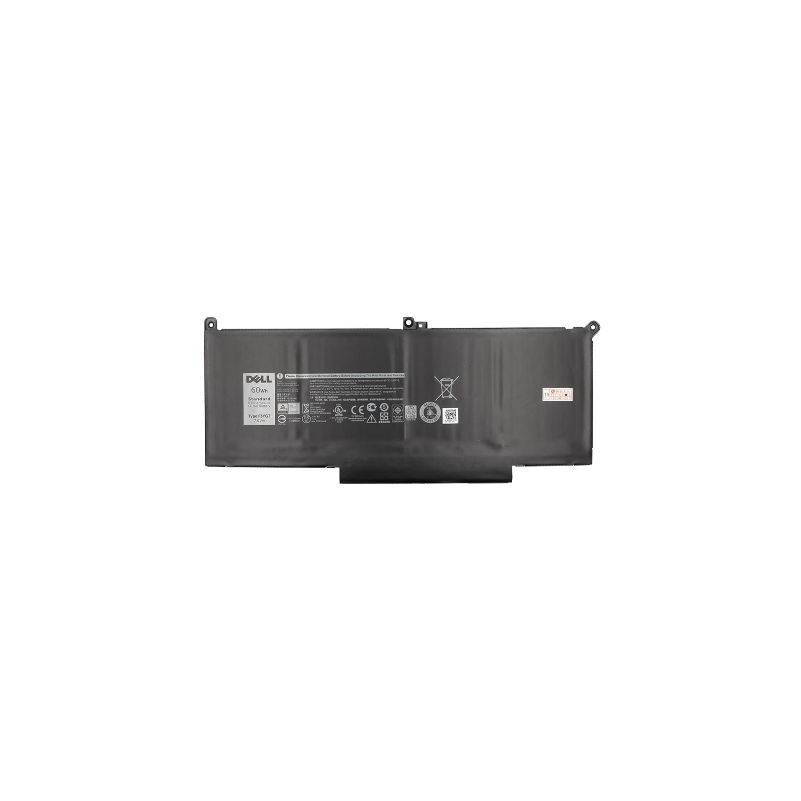 Аккумулятор для ноутбука DELL Latitude 7280 (DM3WC) 7.6V 60Wh PowerPlant (NB441167) изображение 2