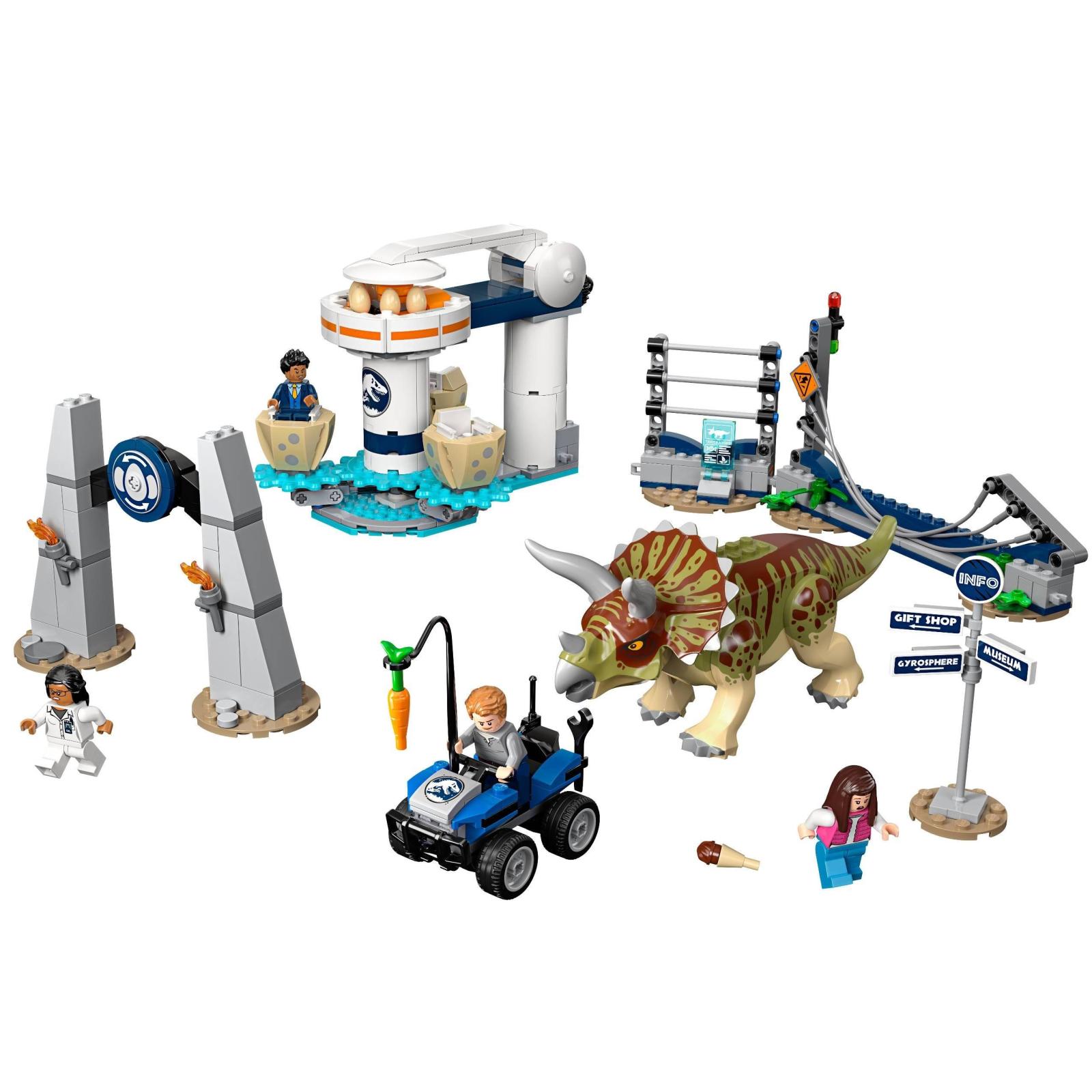 Конструктор LEGO LEGO Jurassic World Нападение трицератопса 447 деталей (75937) изображение 2