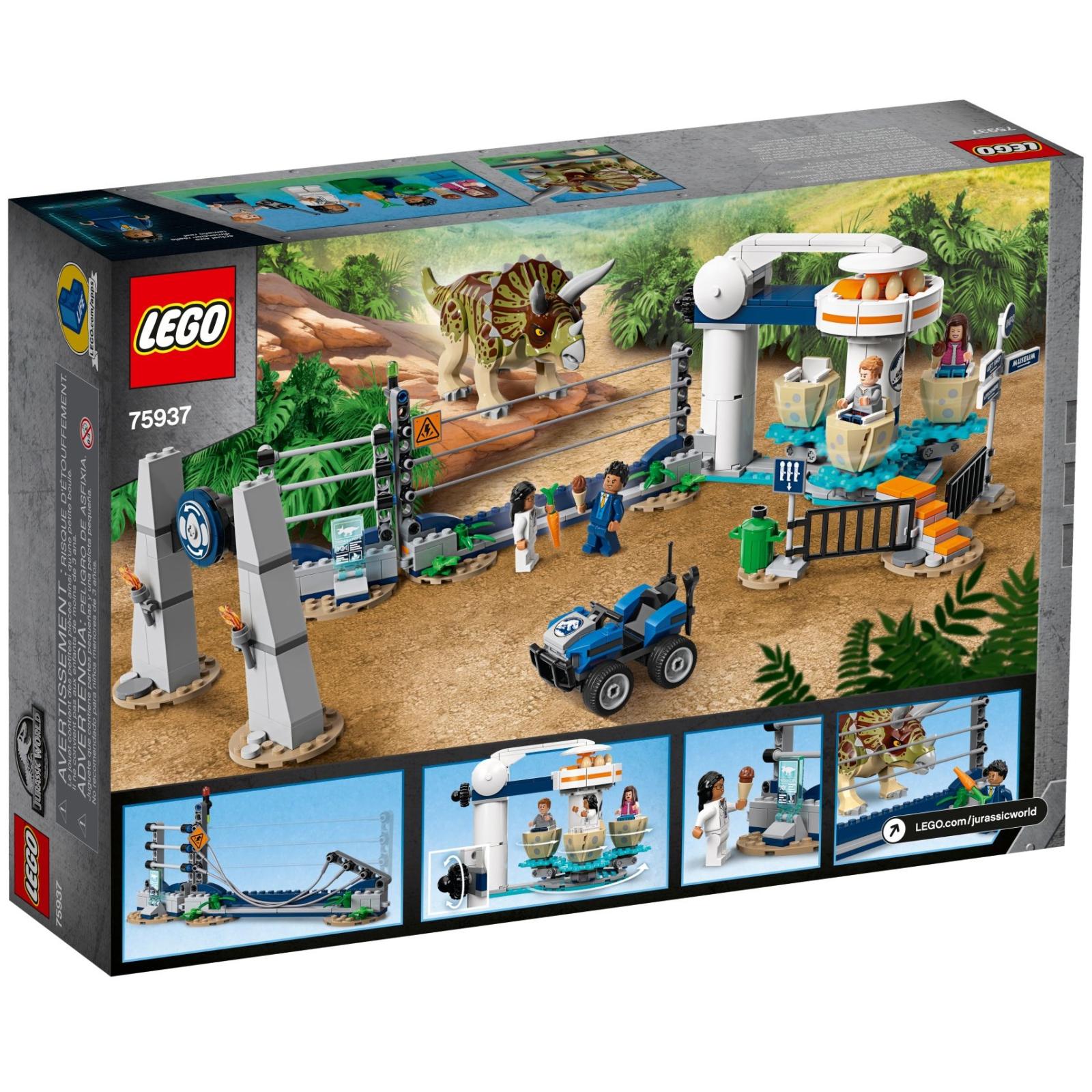 Конструктор LEGO LEGO Jurassic World Нападение трицератопса 447 деталей (75937) изображение 4