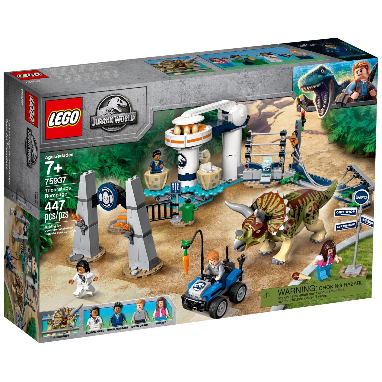 Конструктор LEGO LEGO Jurassic World Нападение трицератопса 447 деталей (75937)