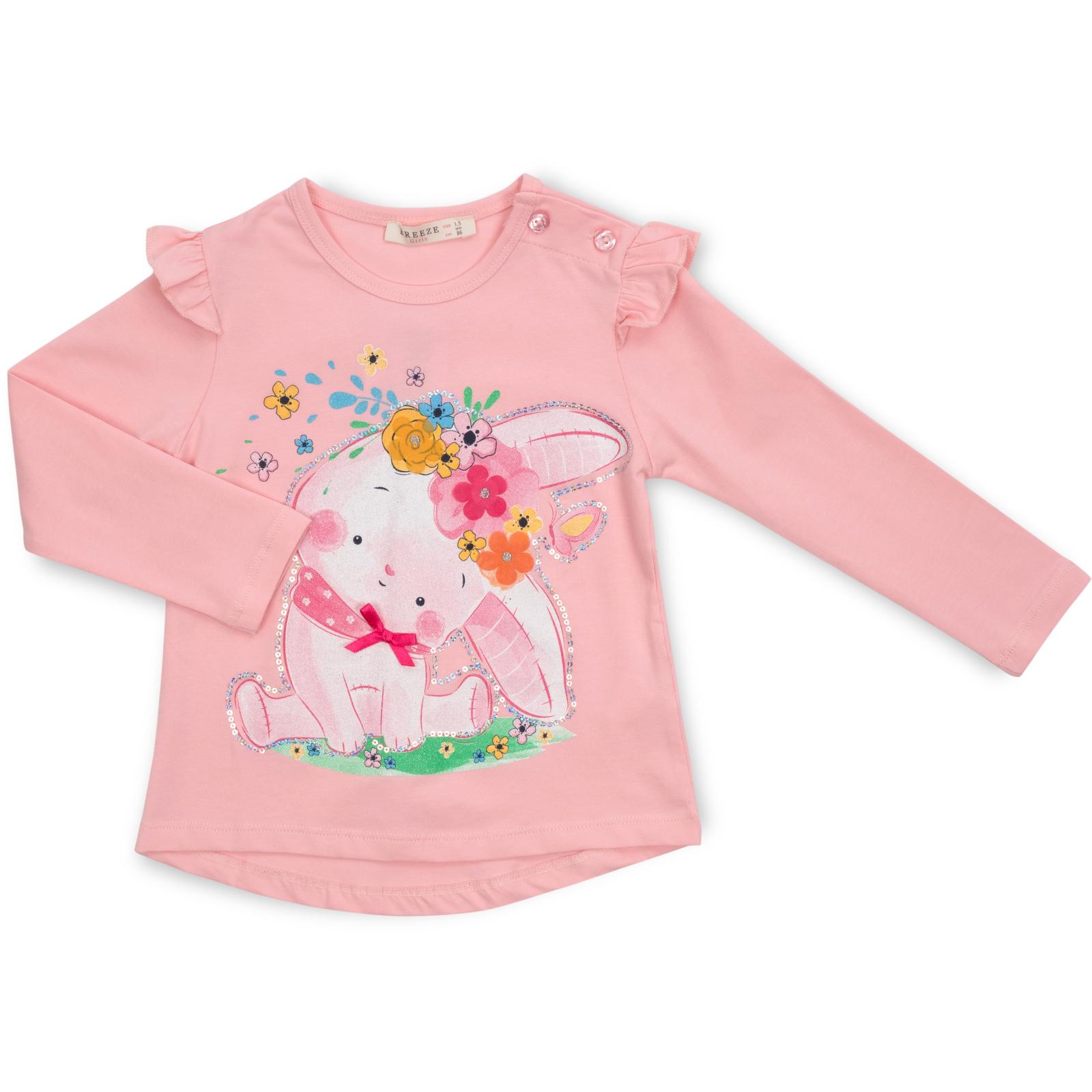 Набор детской одежды Breeze с зайчиком в цветах (13299-92G-pink) изображение 2