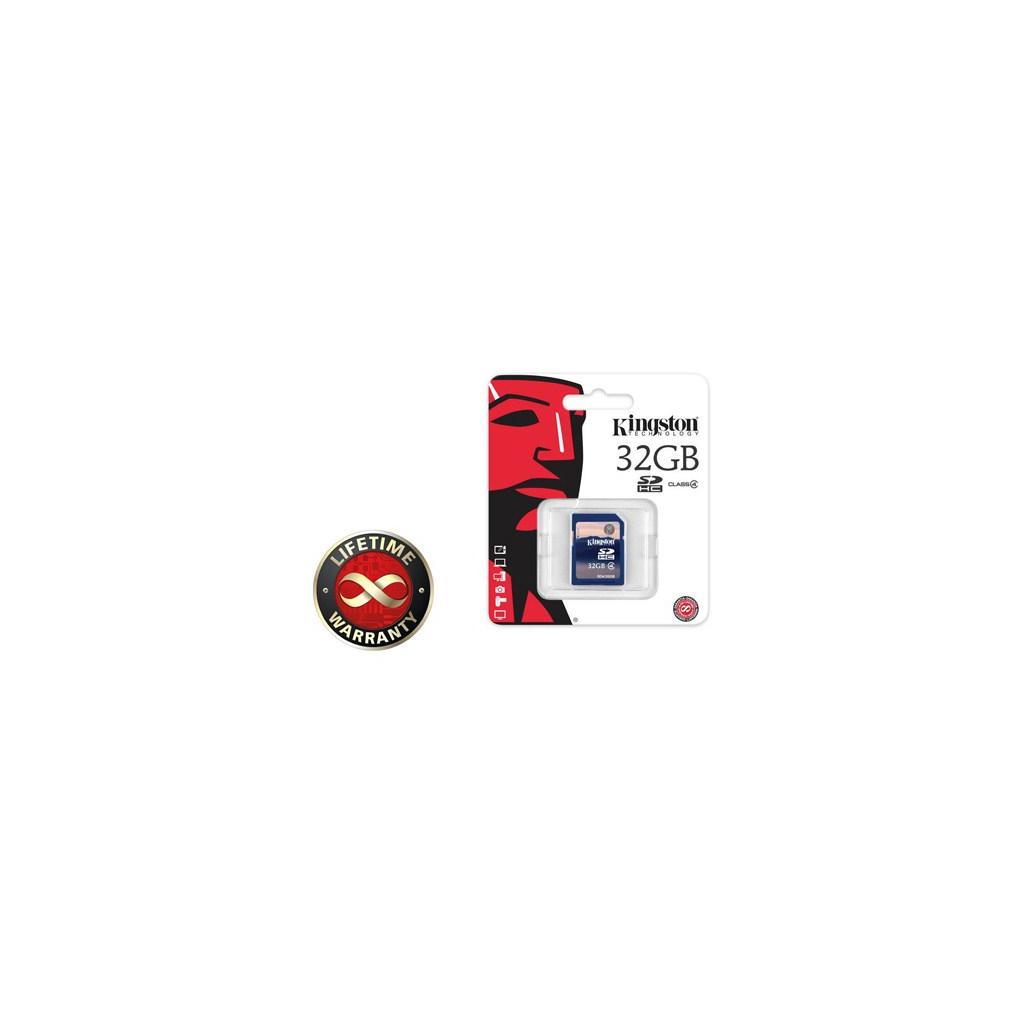Карта памяти Kingston 32Gb SDHC class 4 (SD4/32GB) изображение 2