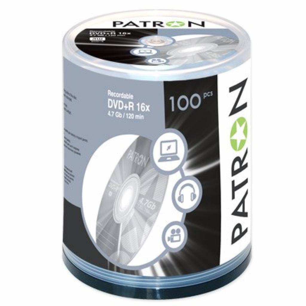 Диск DVD+R PATRON 4.7Gb 16x CAKE BOX 100шт (INS-D013)