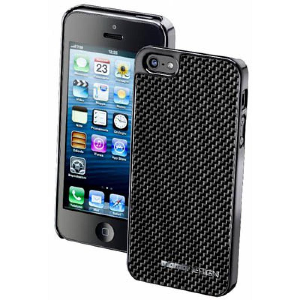 Чехол для моб. телефона CellularLine MOMO Carbon iPhone 5 Grey (MOMOCFIPHONE5DG)