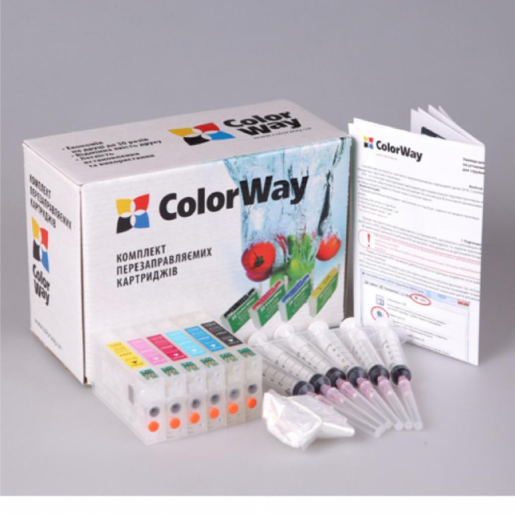 Комплект перезаправляемых картриджей ColorWay Epson R200/300 chip (R220RC-0.0)