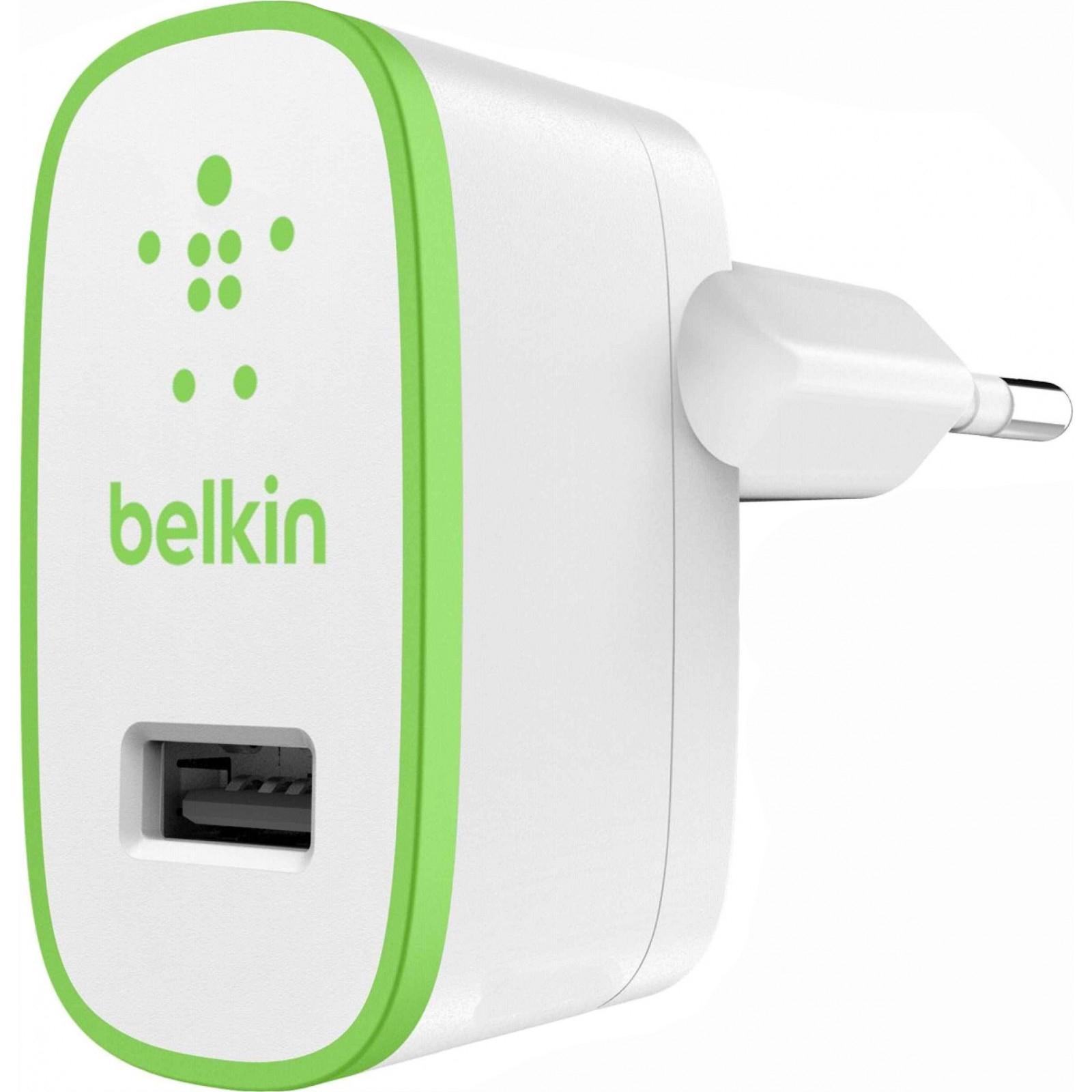 Зарядное устройство Belkin USB Home Charger (220V, 1*USB 5V/2.4A) (F8J040vfWHT)