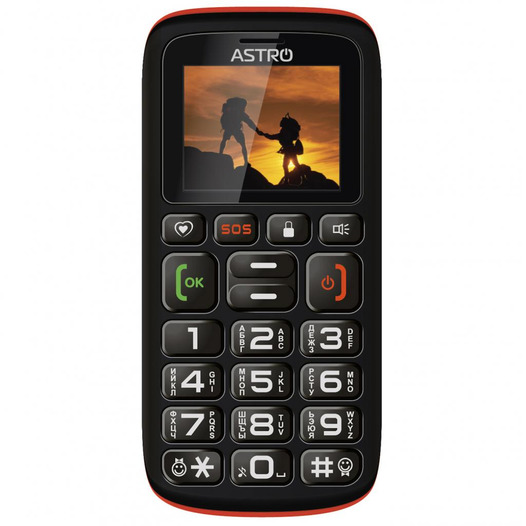 Мобильный телефон Astro B181 Black Orange