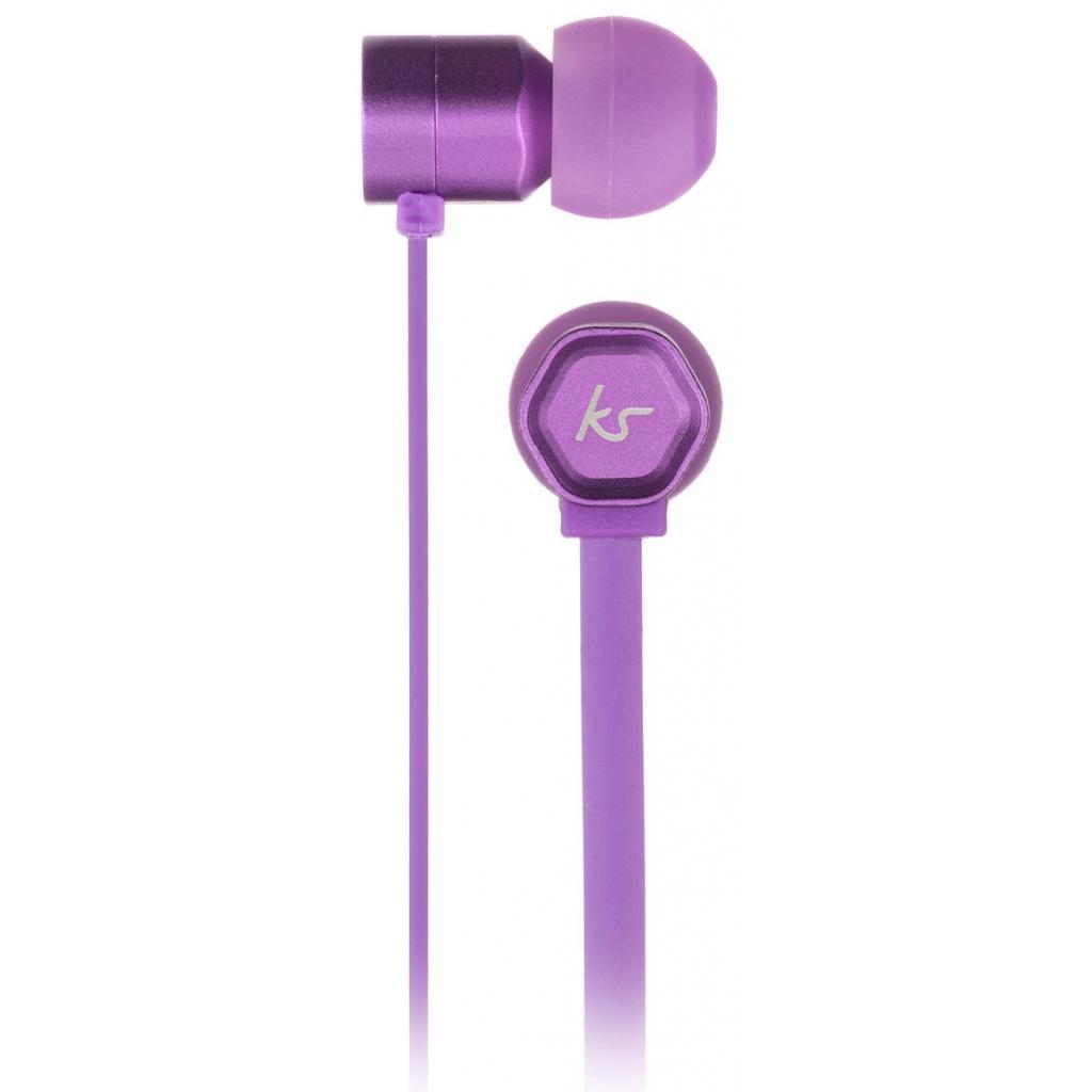 Наушники KitSound KS Hive Buds Earphones with Mic Purple (KSHIVBPU) изображение 3