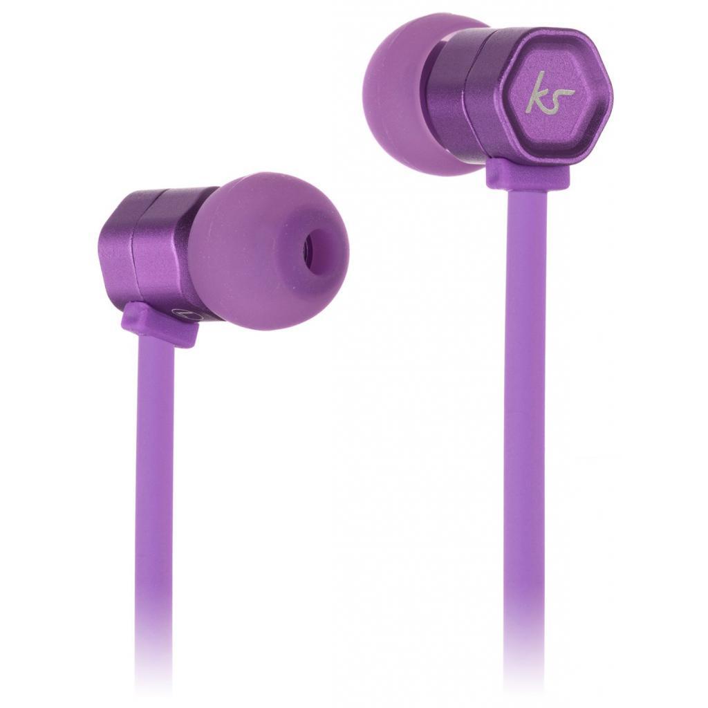 Наушники KitSound KS Hive Buds Earphones with Mic Purple (KSHIVBPU)