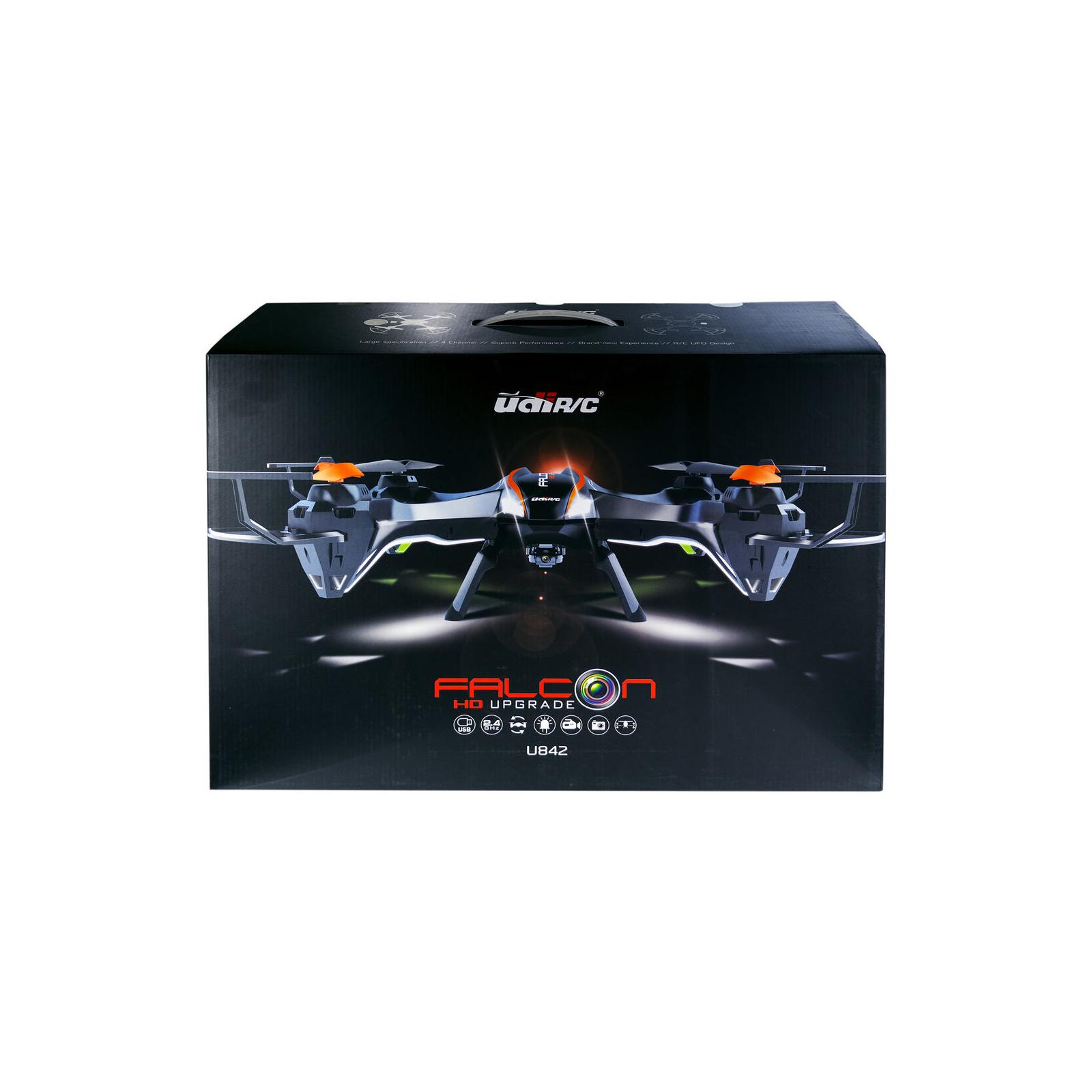 Квадрокоптер UDIRC U842 FALCON 2,4 GHz 486 мм HD бортовая камера 4CH (U842 Black) изображение 6