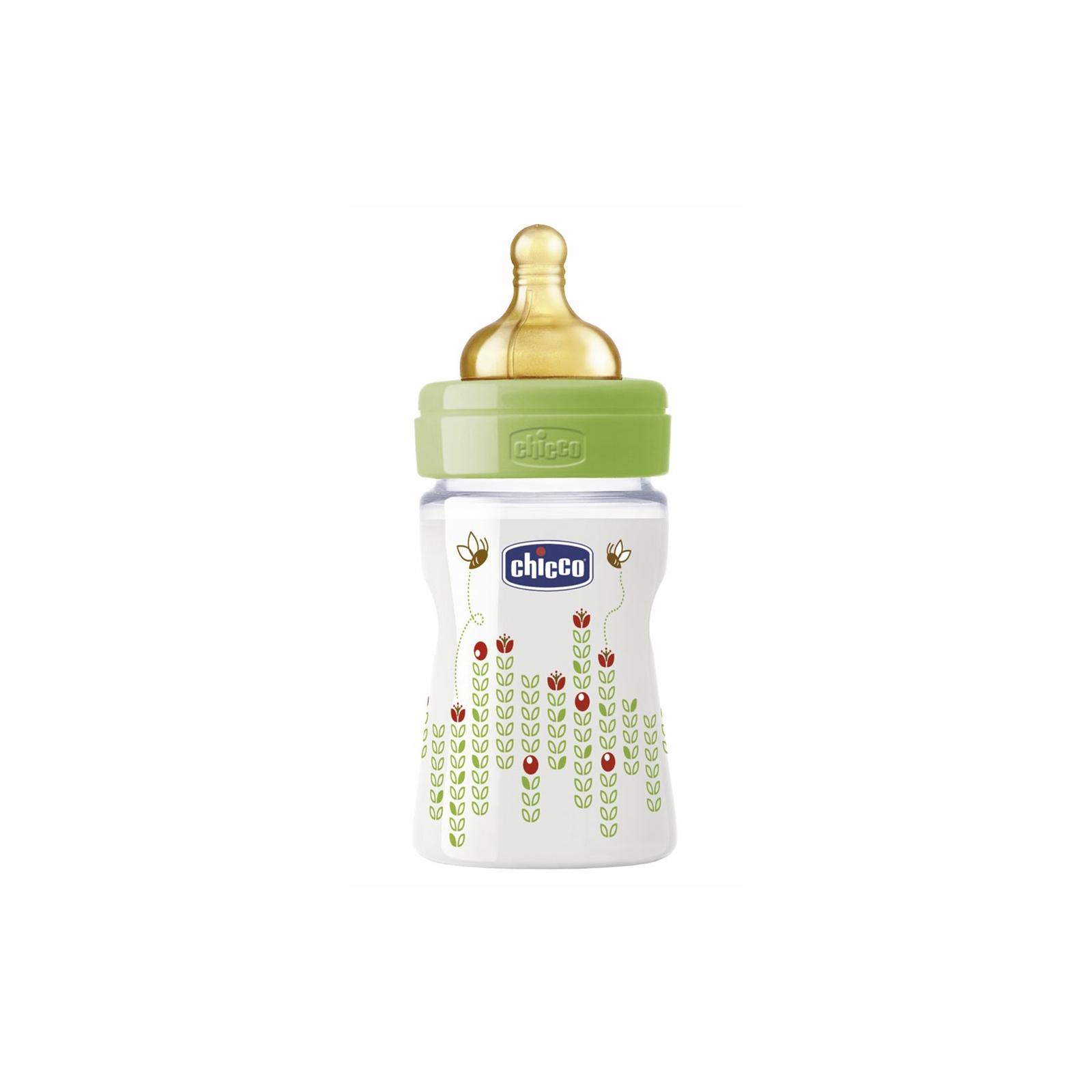 Бутылочка для кормления Chicco Well-Being 150 мл с латексной соской 0 мес+ (70750.00.04)