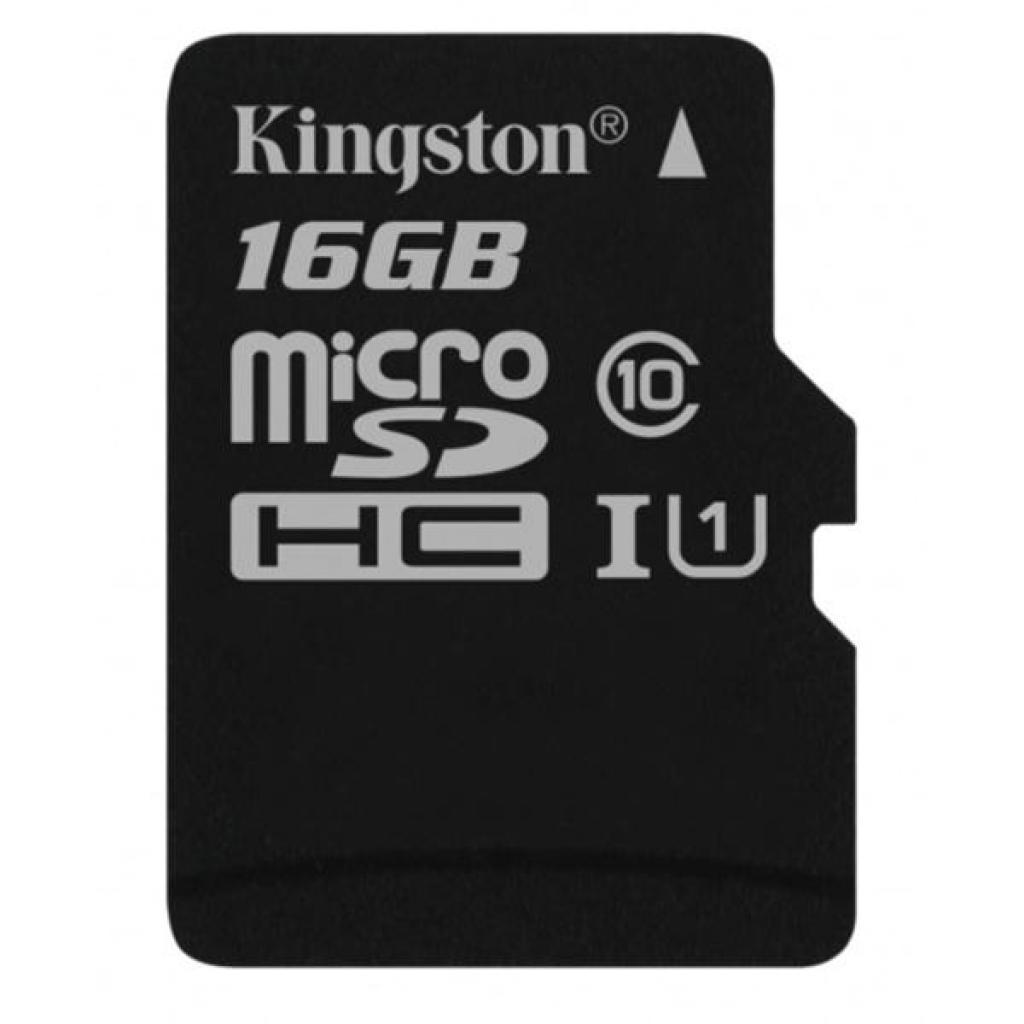 Карта памяти Kingston 16GB microSDHC class 10 UHS-I Canvas Select (SDCS/16GB) изображение 2