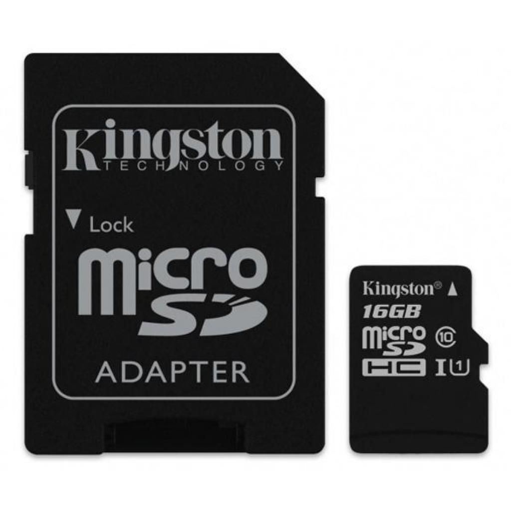 Карта памяти Kingston 16GB microSDHC class 10 UHS-I Canvas Select (SDCS/16GB)