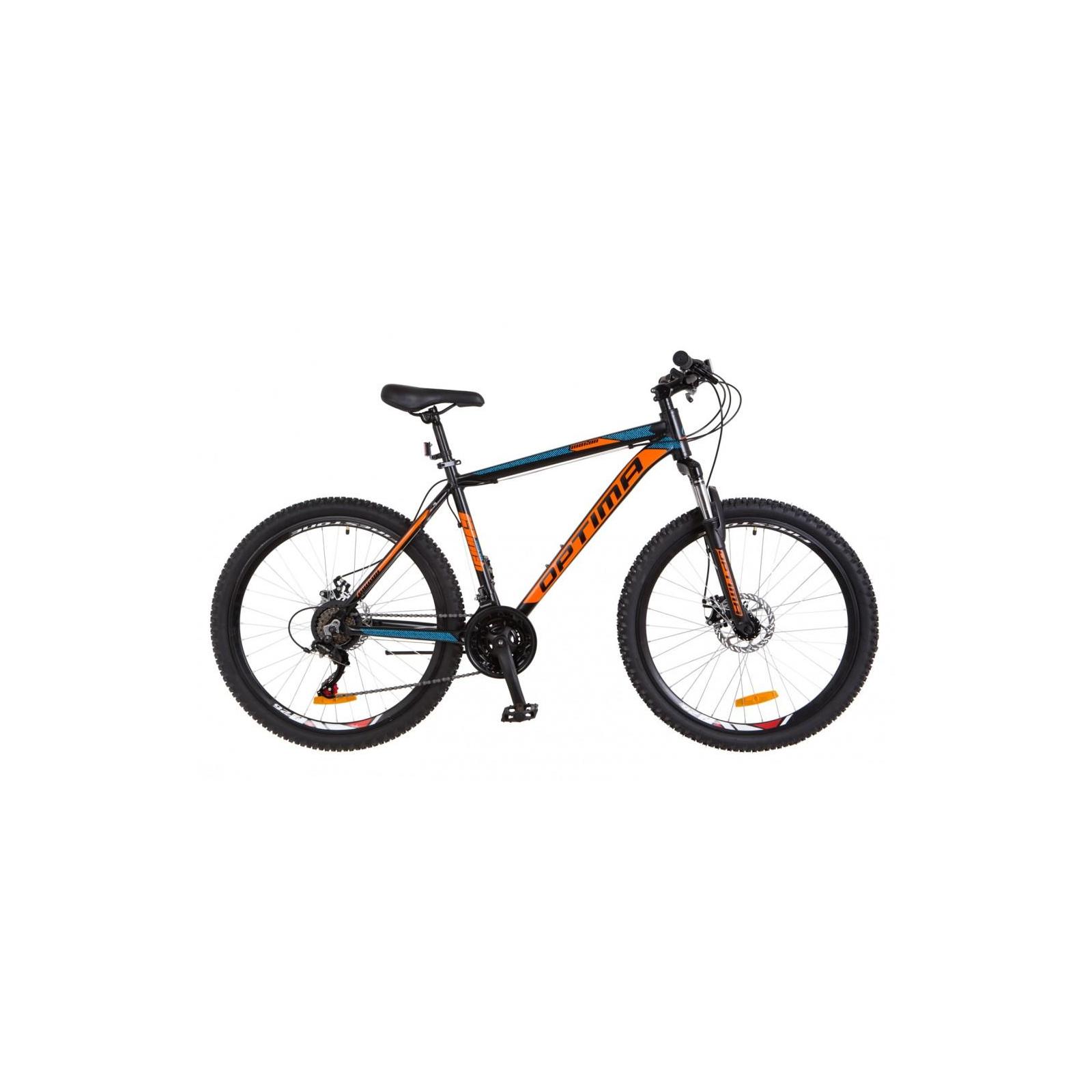 "Велосипед Optimabikes 26"" MOTION 2018 AM 14G DD рама-13"" Al черно-оранжевый (OPS-OP-26-111)"