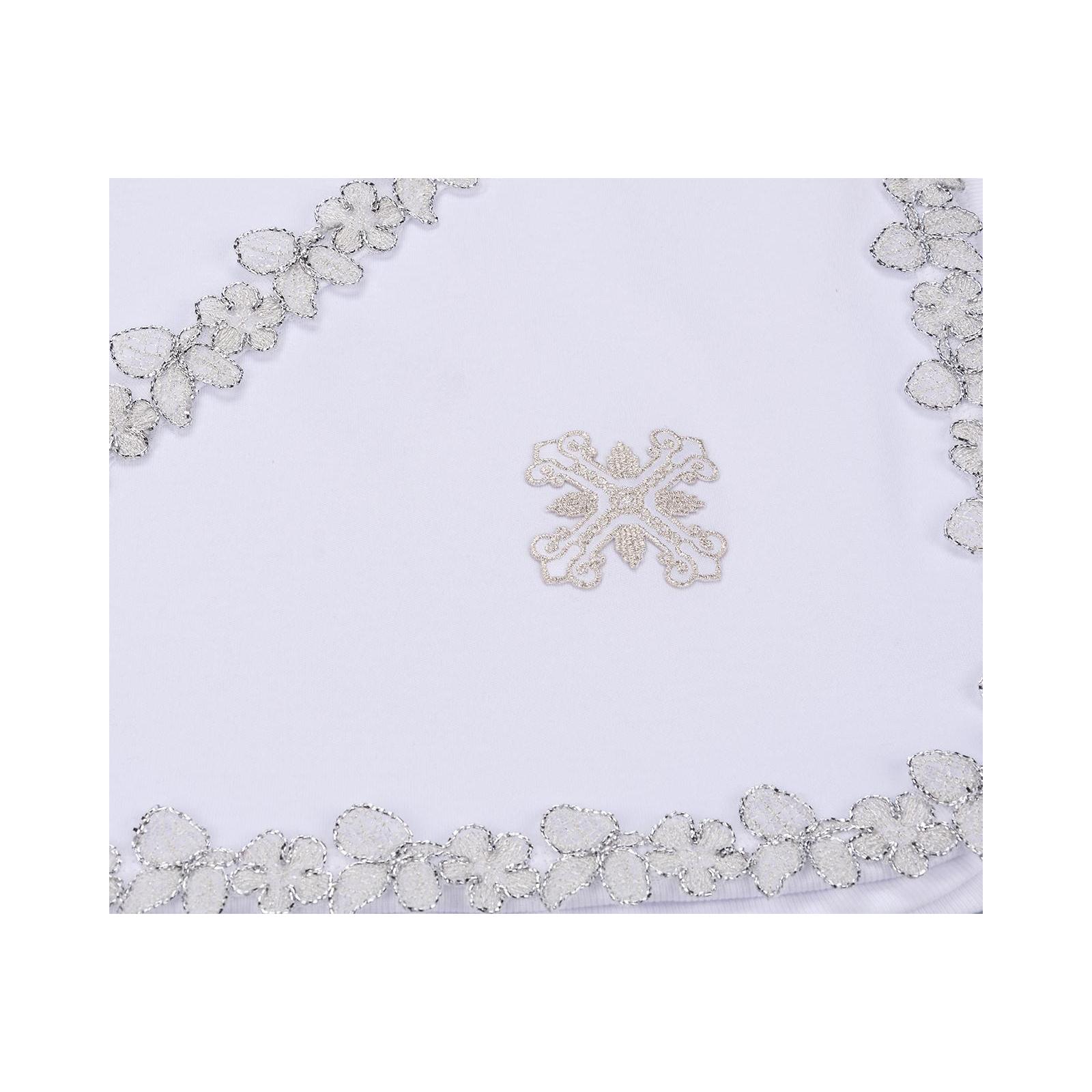Крыжма Интеркидс с серебряной тесьмой (2456-white) изображение 3