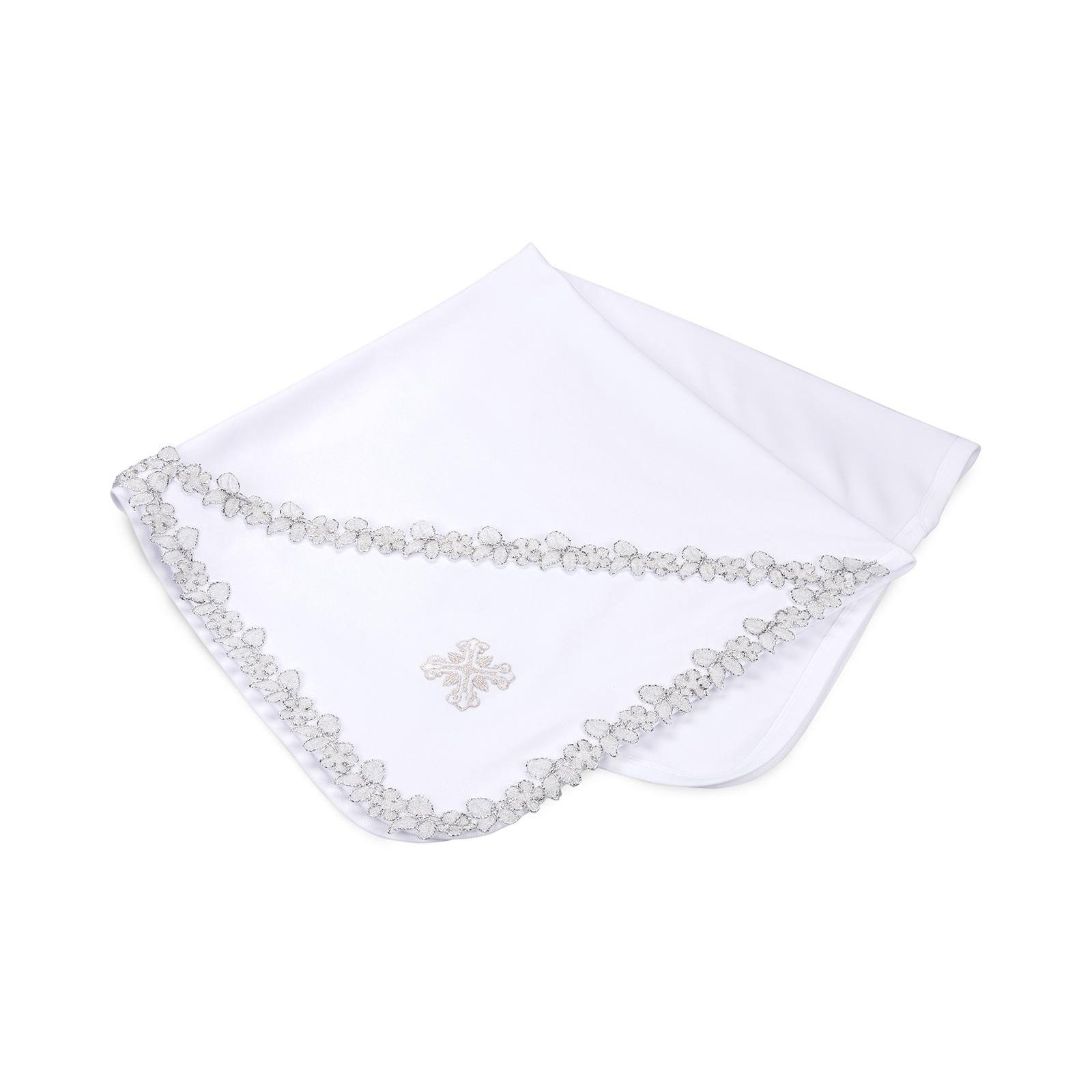 Крыжма Интеркидс с серебряной тесьмой (2456-white)