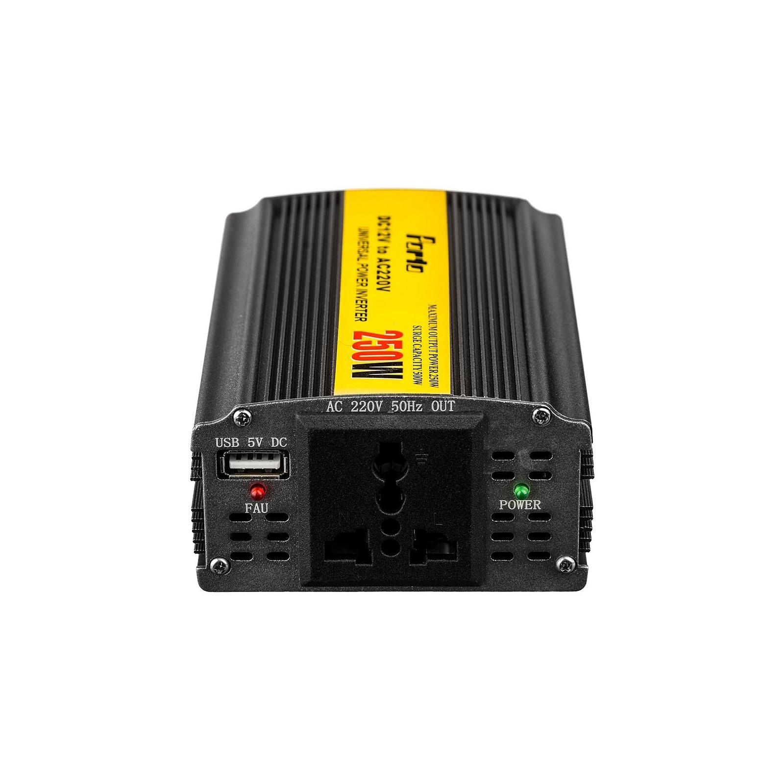 Автомобильный инвертор 12V/220V 250W, USB Porto (MND-250) изображение 2