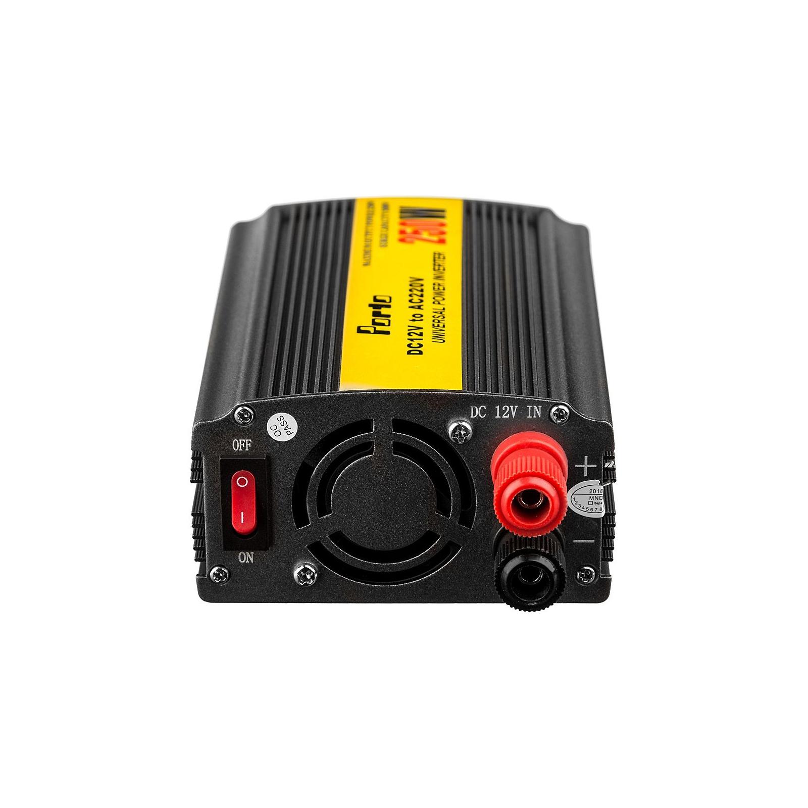 Автомобильный инвертор 12V/220V 250W, USB Porto (MND-250) изображение 3
