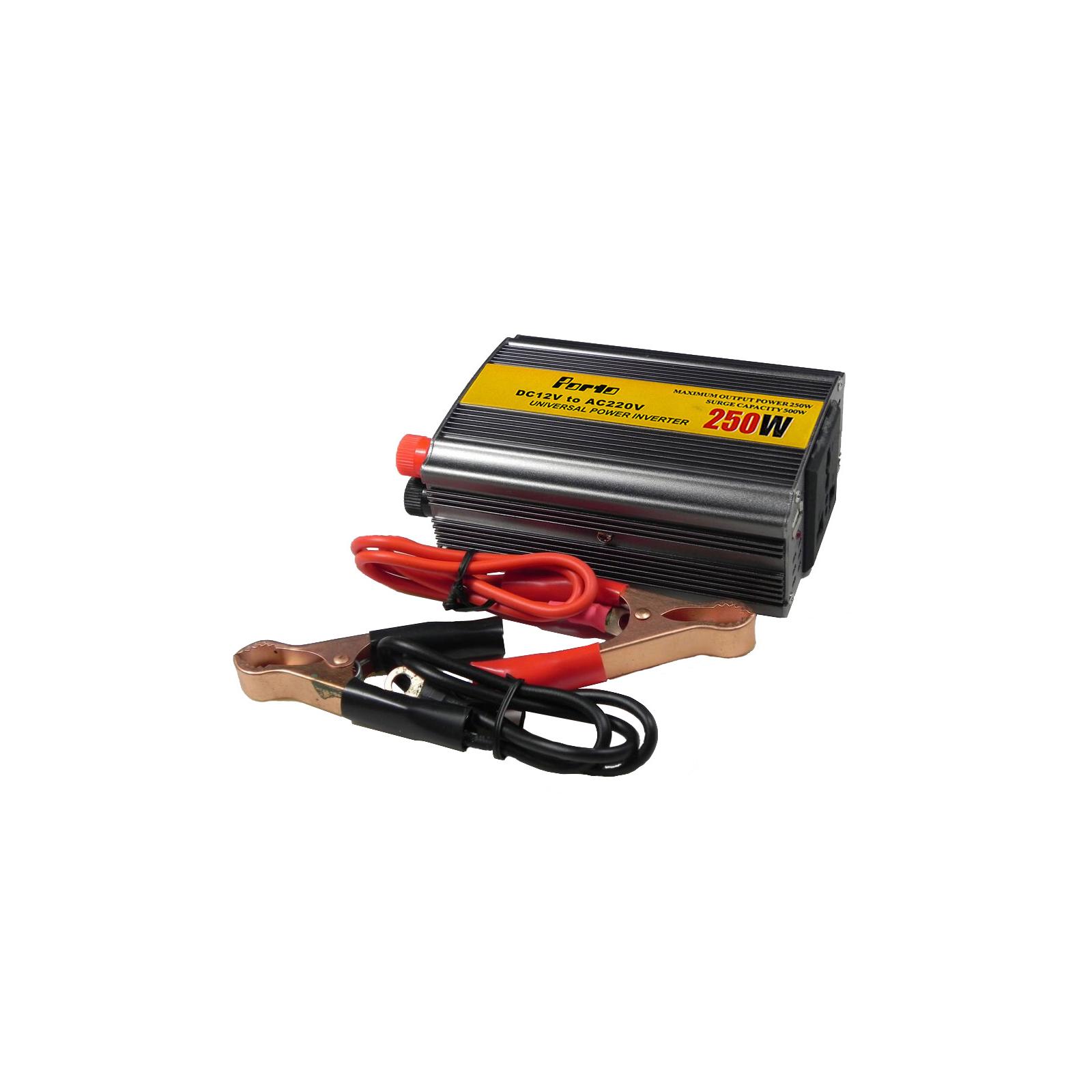 Автомобильный инвертор 12V/220V 250W, USB Porto (MND-250) изображение 5