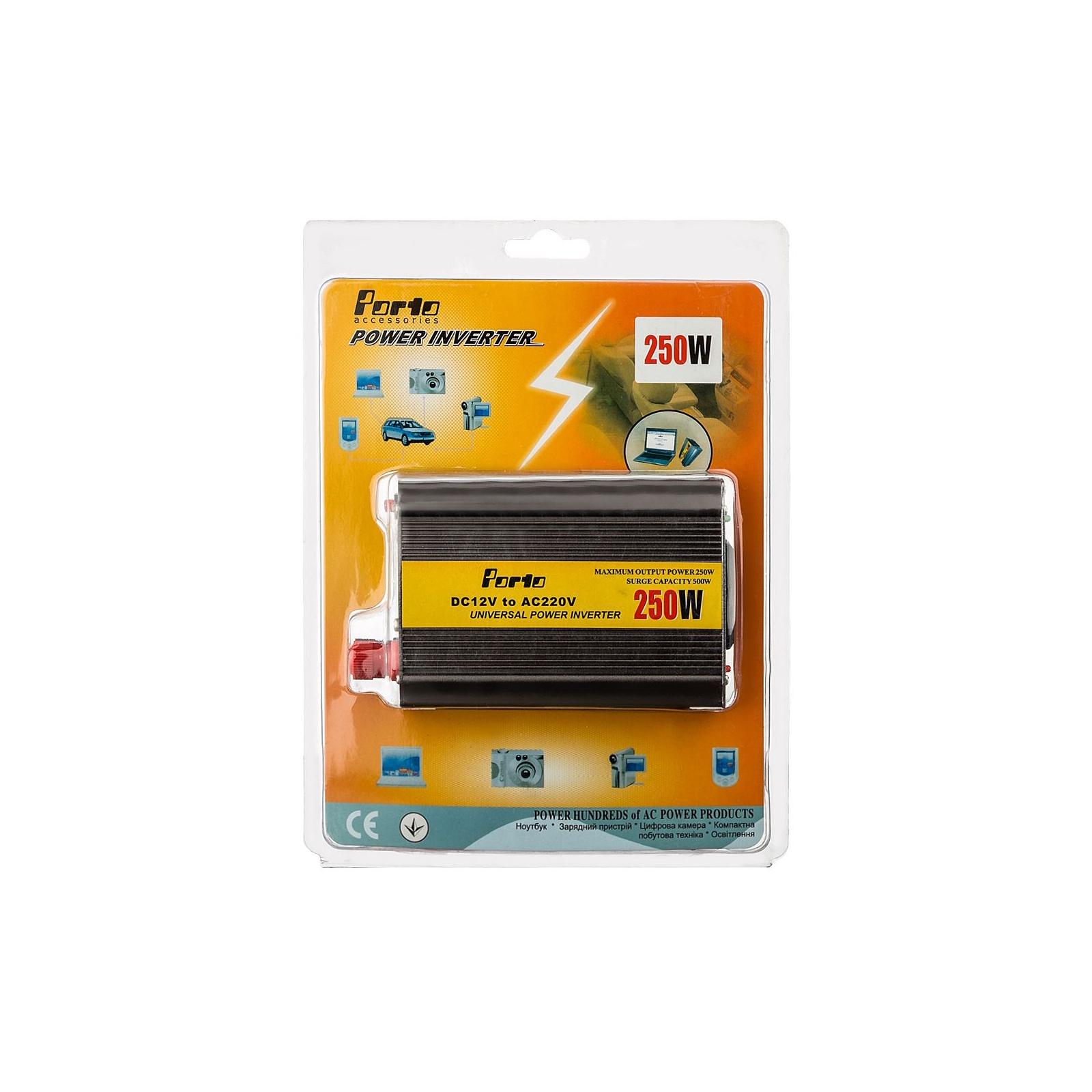 Автомобильный инвертор 12V/220V 250W, USB Porto (MND-250) изображение 6
