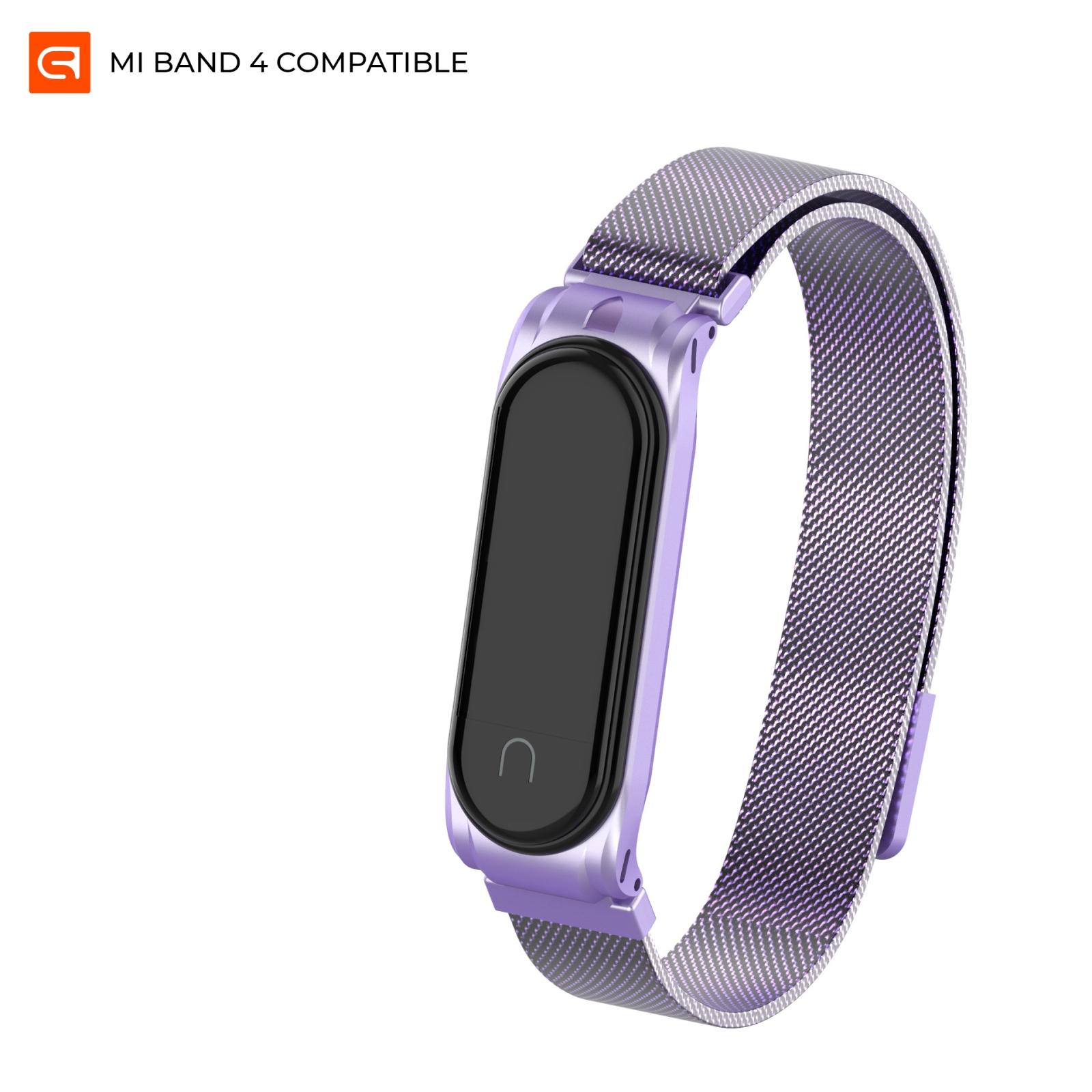 Ремешок для фитнес браслета Armorstandart Milanese Magnetic Band для Xiaomi Mi Band 4/3 Violet (ARM55199)