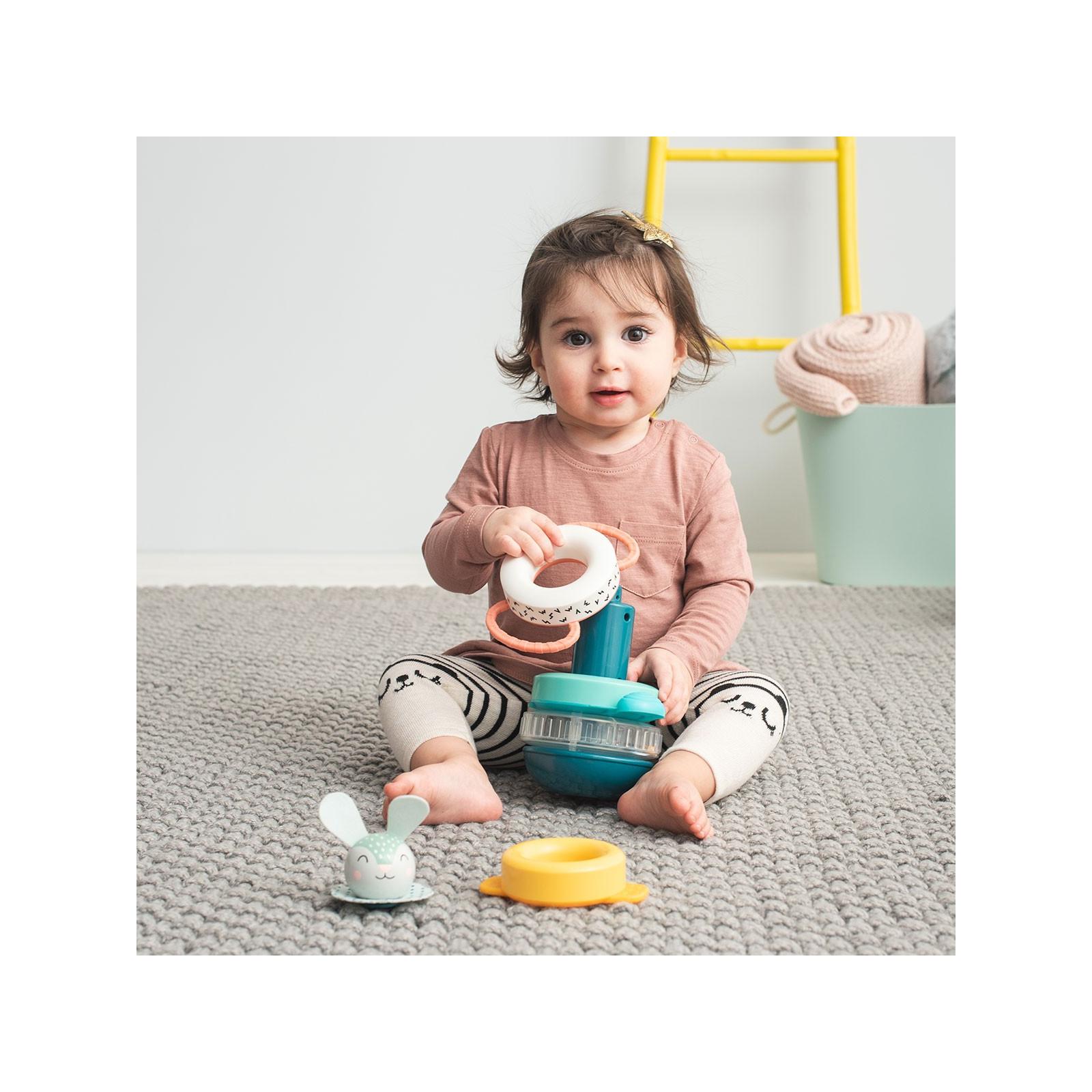 Развивающая игрушка Taf Toys пирамидка Кролик коллекция Полярное сияние (12445) изображение 4