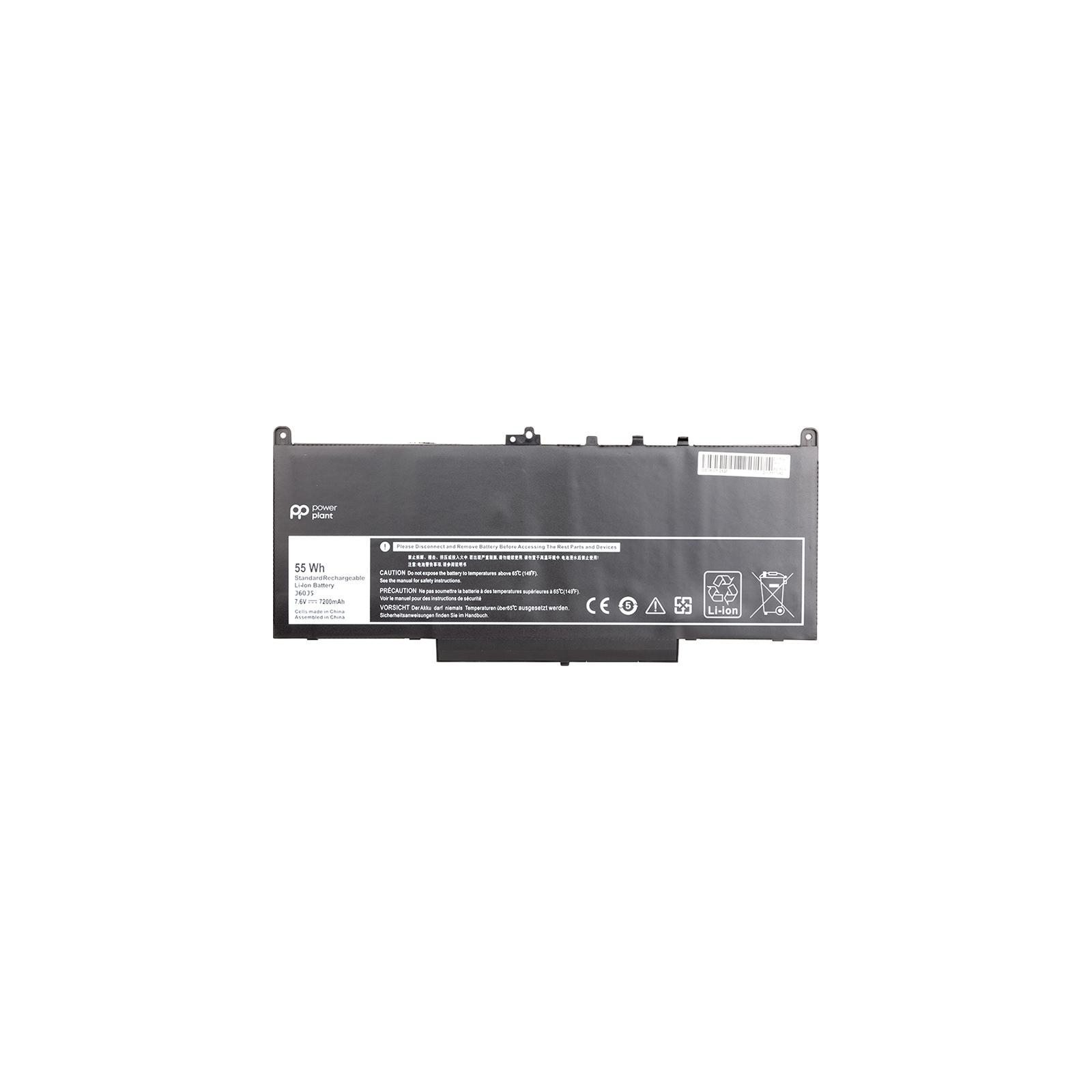 Аккумулятор для ноутбука DELL Latitude E7270 (J60J5) 7.6V 7200mAh PowerPlant (NB441143)