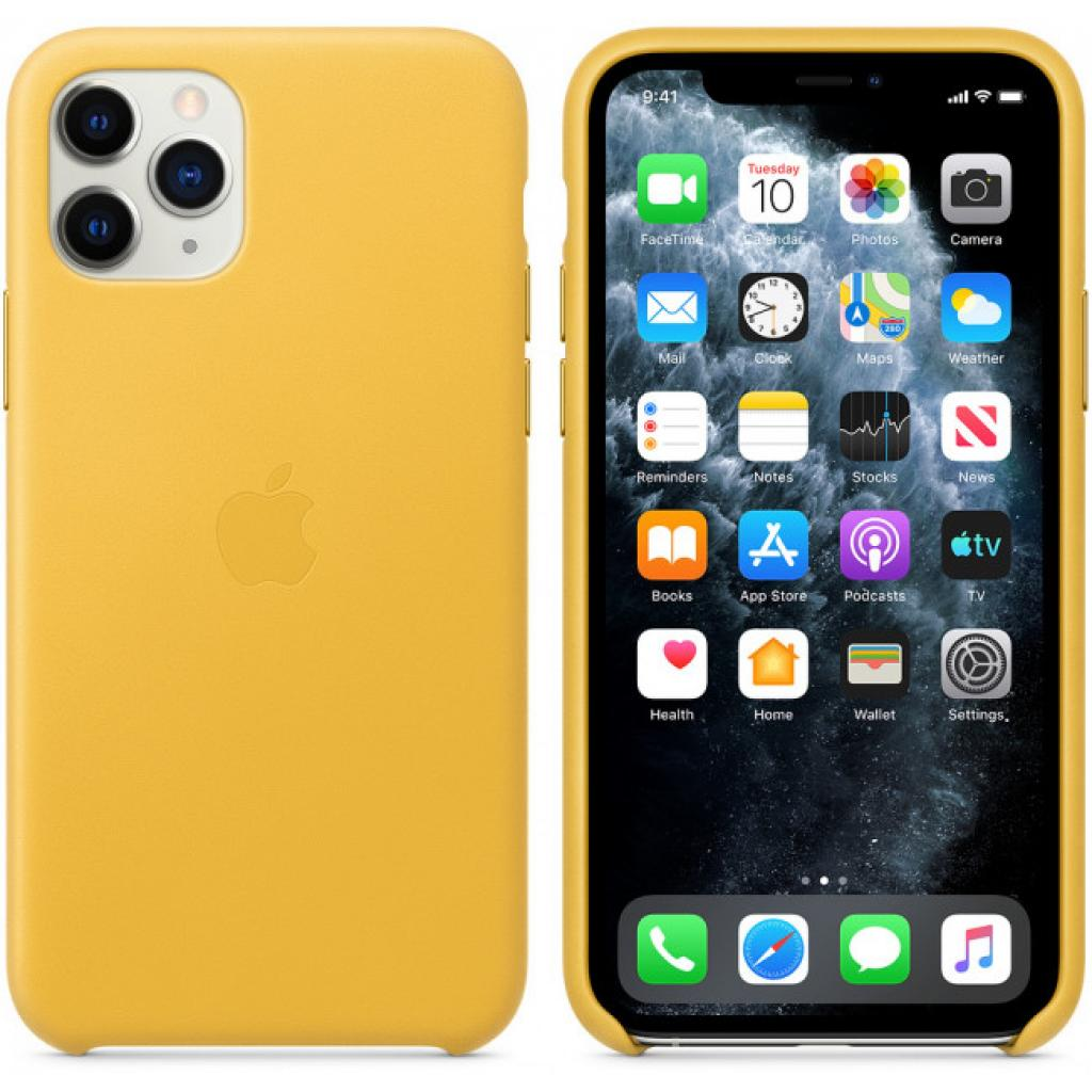 Чехол для моб. телефона Apple iPhone 11 Pro Leather Case - Midnight Blue (MWYG2ZM/A) изображение 5