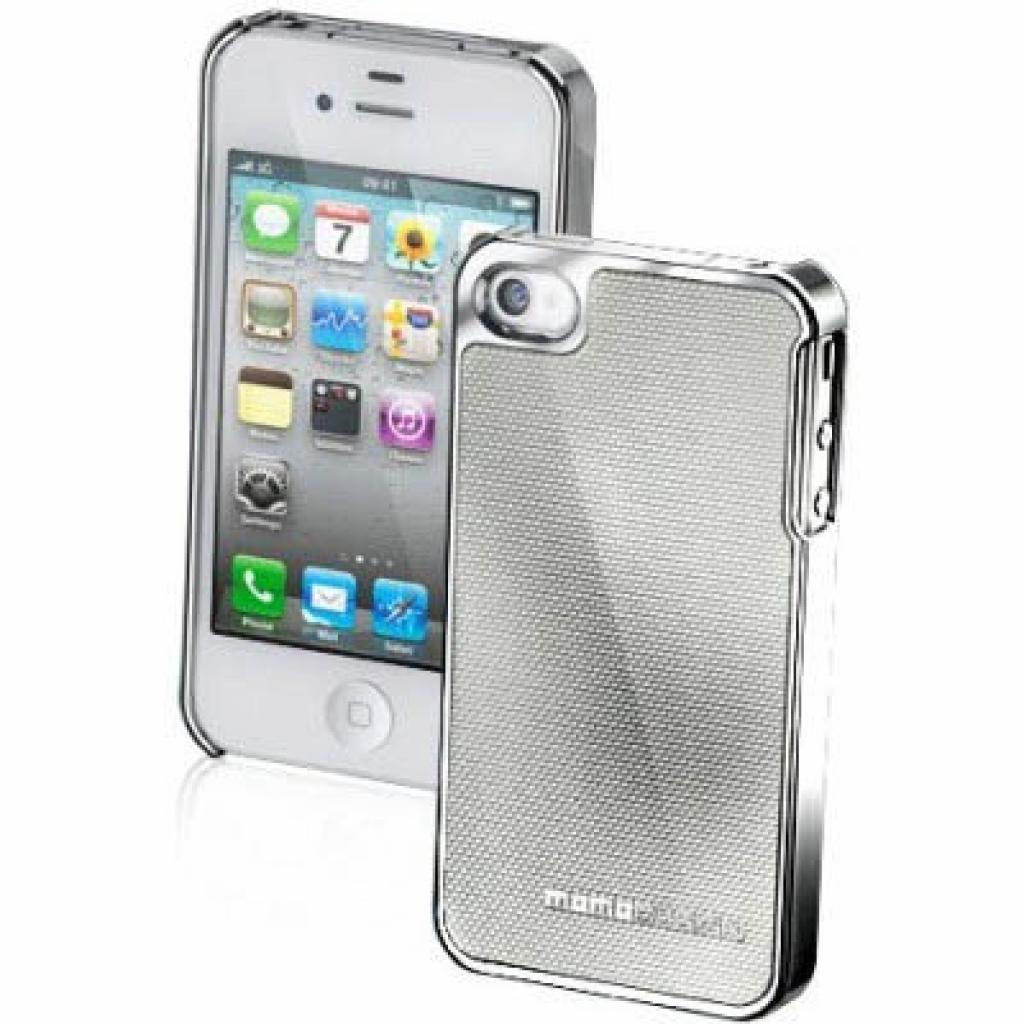 Чехол для моб. телефона CellularLine MOMO Carbon iPhone 5 Silver (MOMOCFIPHONE5SIL)