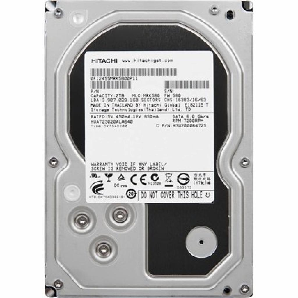 """Жесткий диск 3.5"""" 2TB Hitachi HGST (0F14685)"""