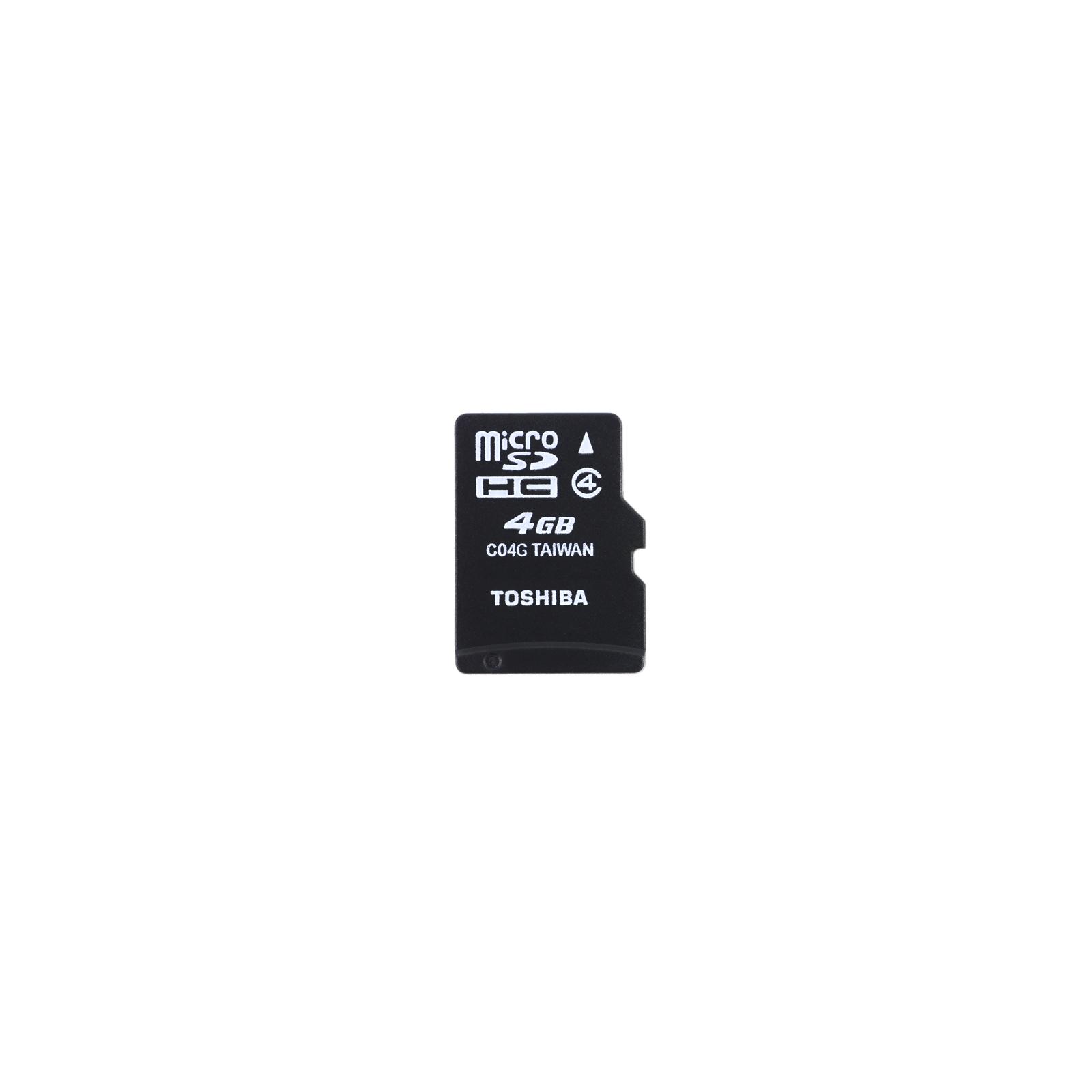 Карта памяти TOSHIBA 4Gb microSDHC class 4 (SD-C04GJ(BL5A)