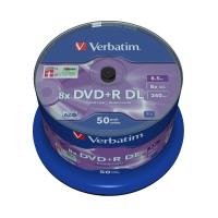 Диск DVD Verbatim 8.5Gb 8X CakeBox 50 шт MATT SILVER SURFACE (43758)