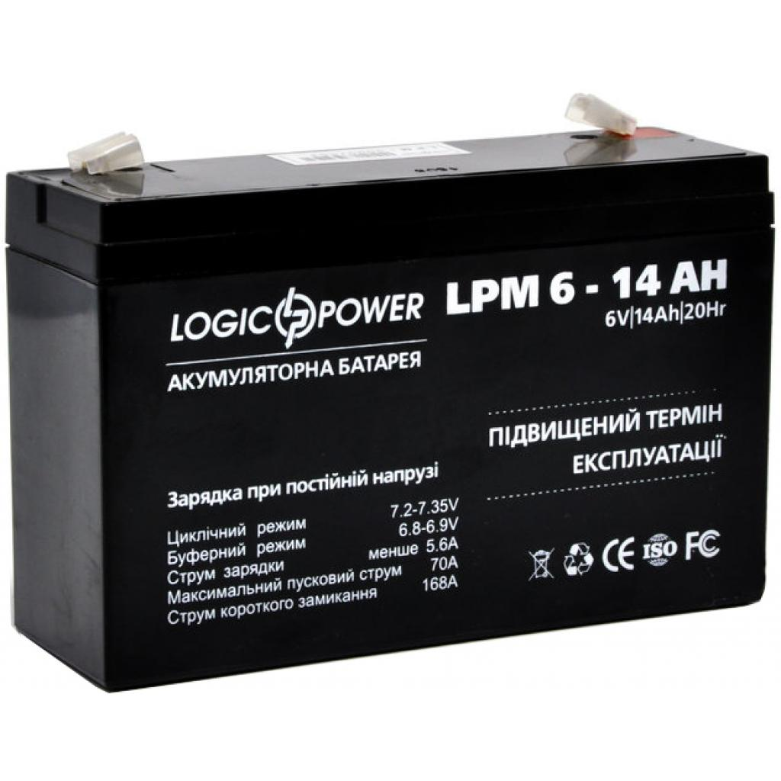 Батарея к ИБП LogicPower LPM 6В 14 Ач (4160) изображение 2
