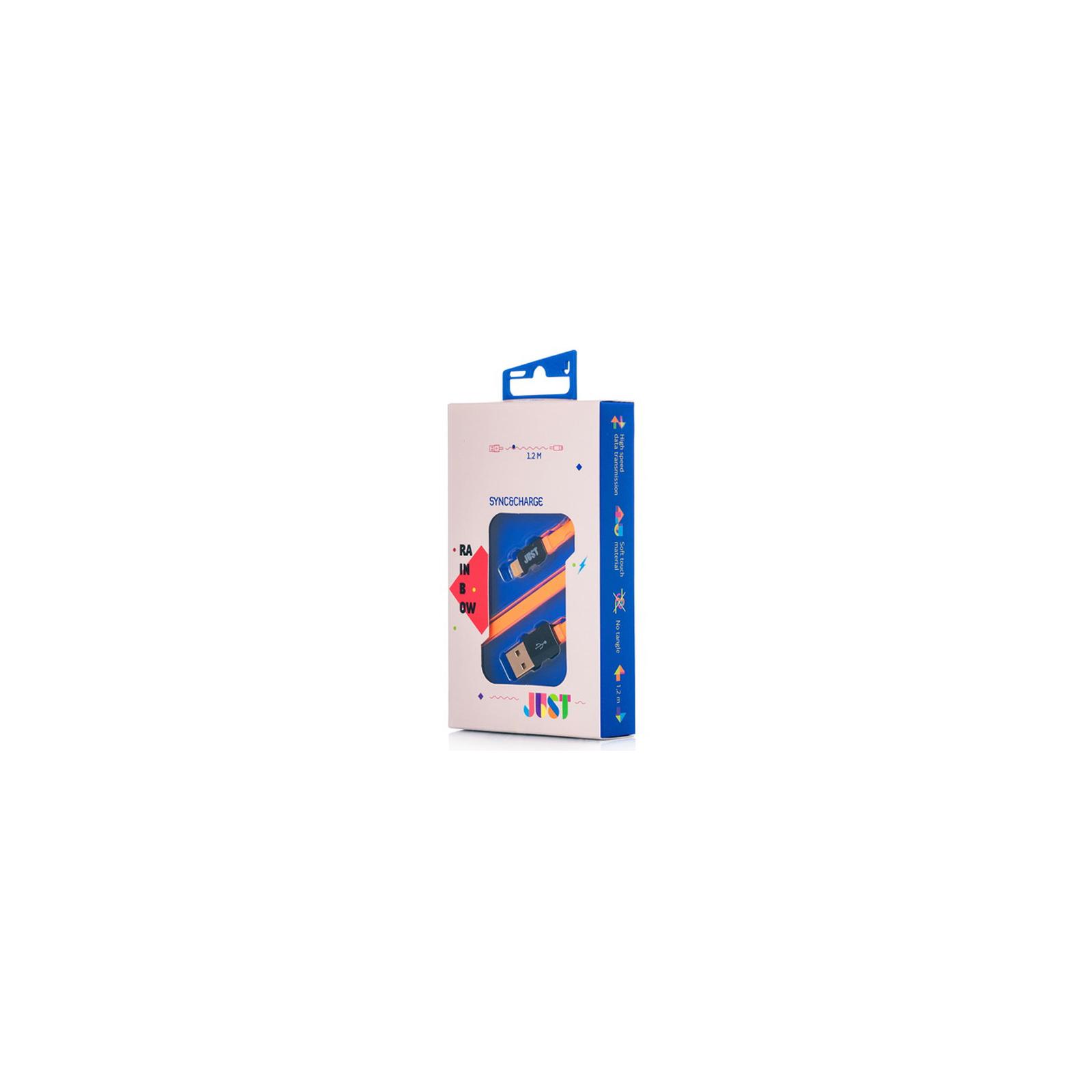 Дата кабель JUST Rainbow Lightning USB Cable Orange (LGTNG-RNBW-RNG) изображение 2