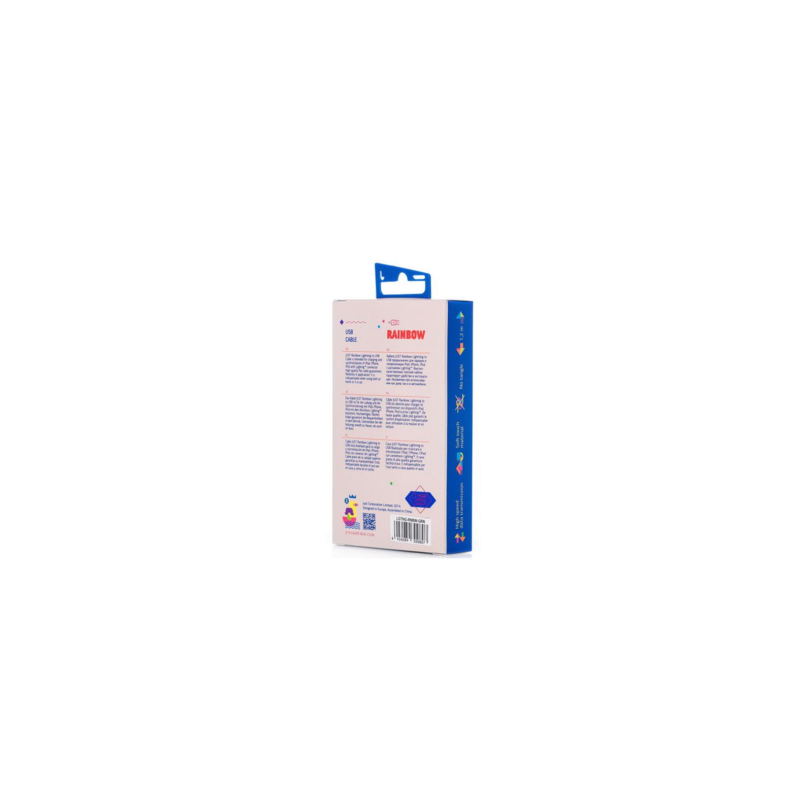 Дата кабель JUST Rainbow Lightning USB Cable Orange (LGTNG-RNBW-RNG) изображение 3