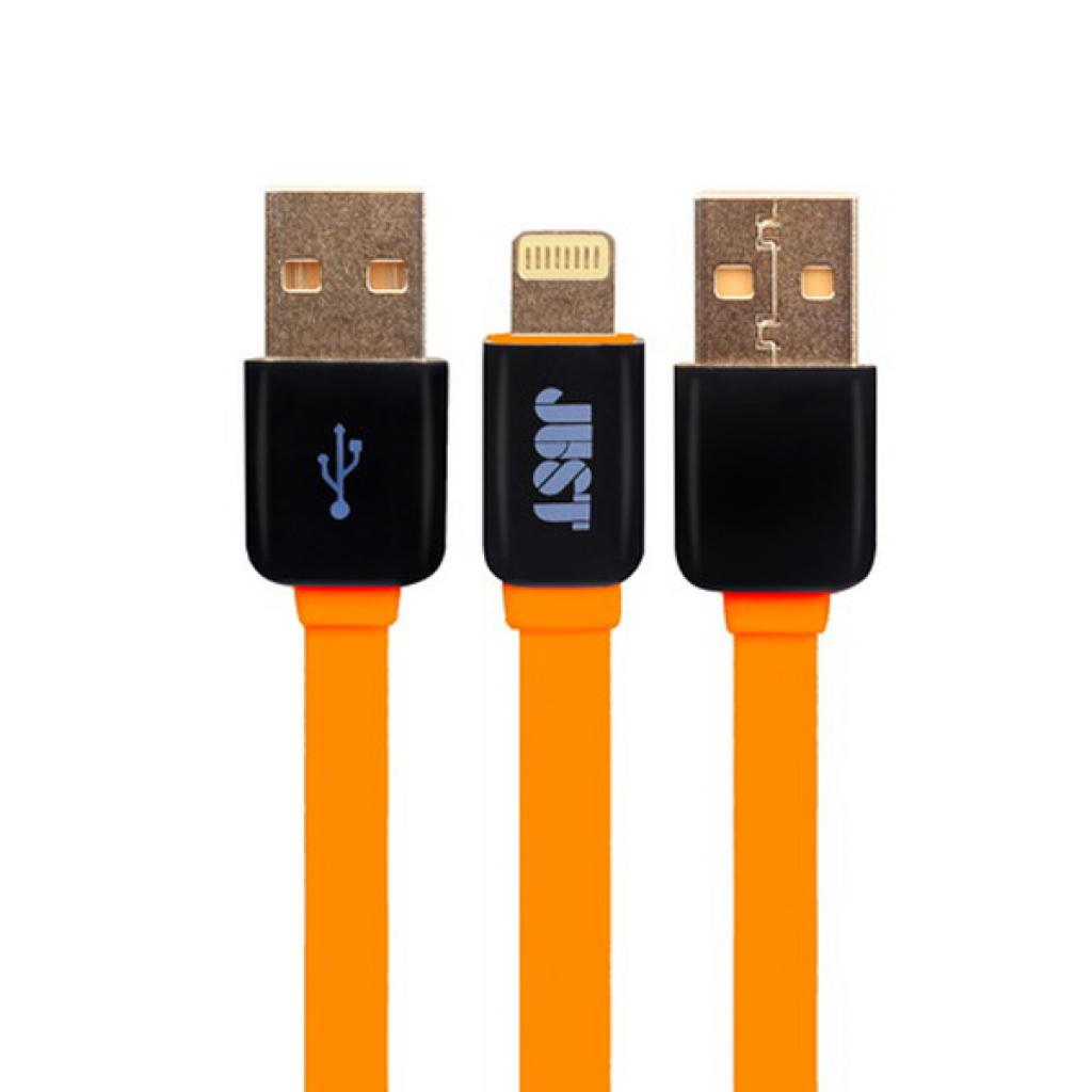 Дата кабель JUST Rainbow Lightning USB Cable Orange (LGTNG-RNBW-RNG)