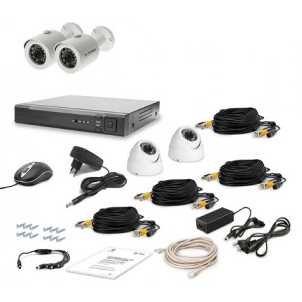 Комплект видеонаблюдения Tecsar AHD 4OUT-MIX LUX (6528)