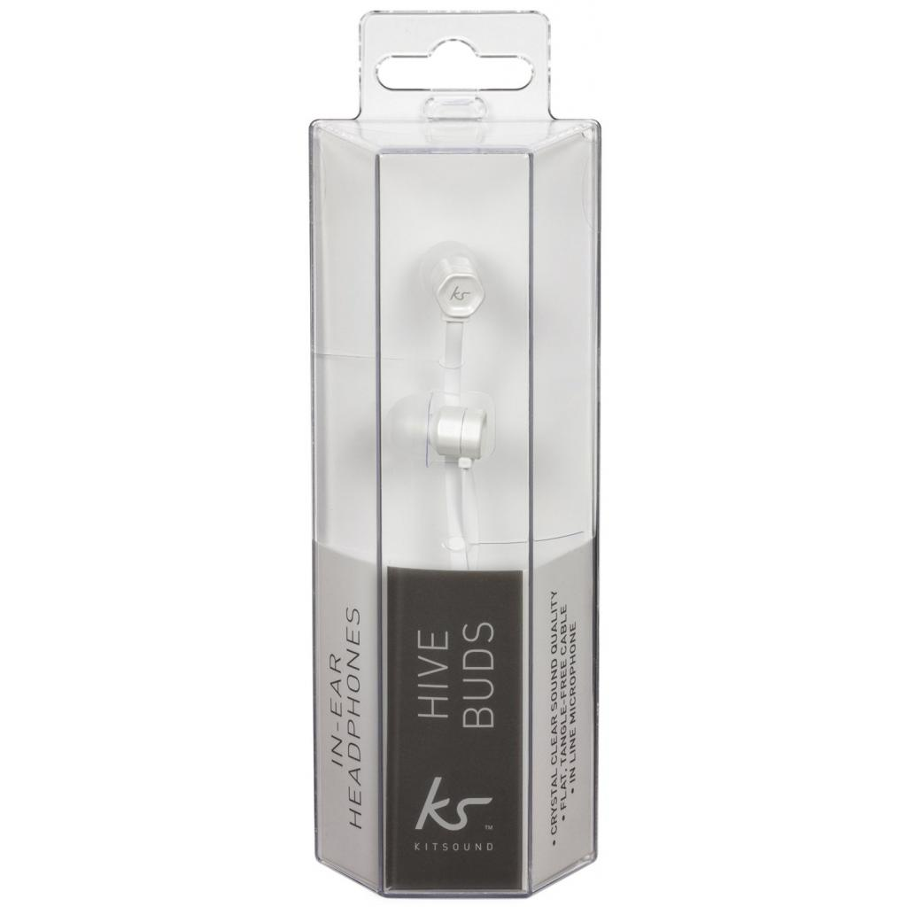 Наушники KitSound KS Hive Buds Earphones with Mic White (KSHIVBWH) изображение 5